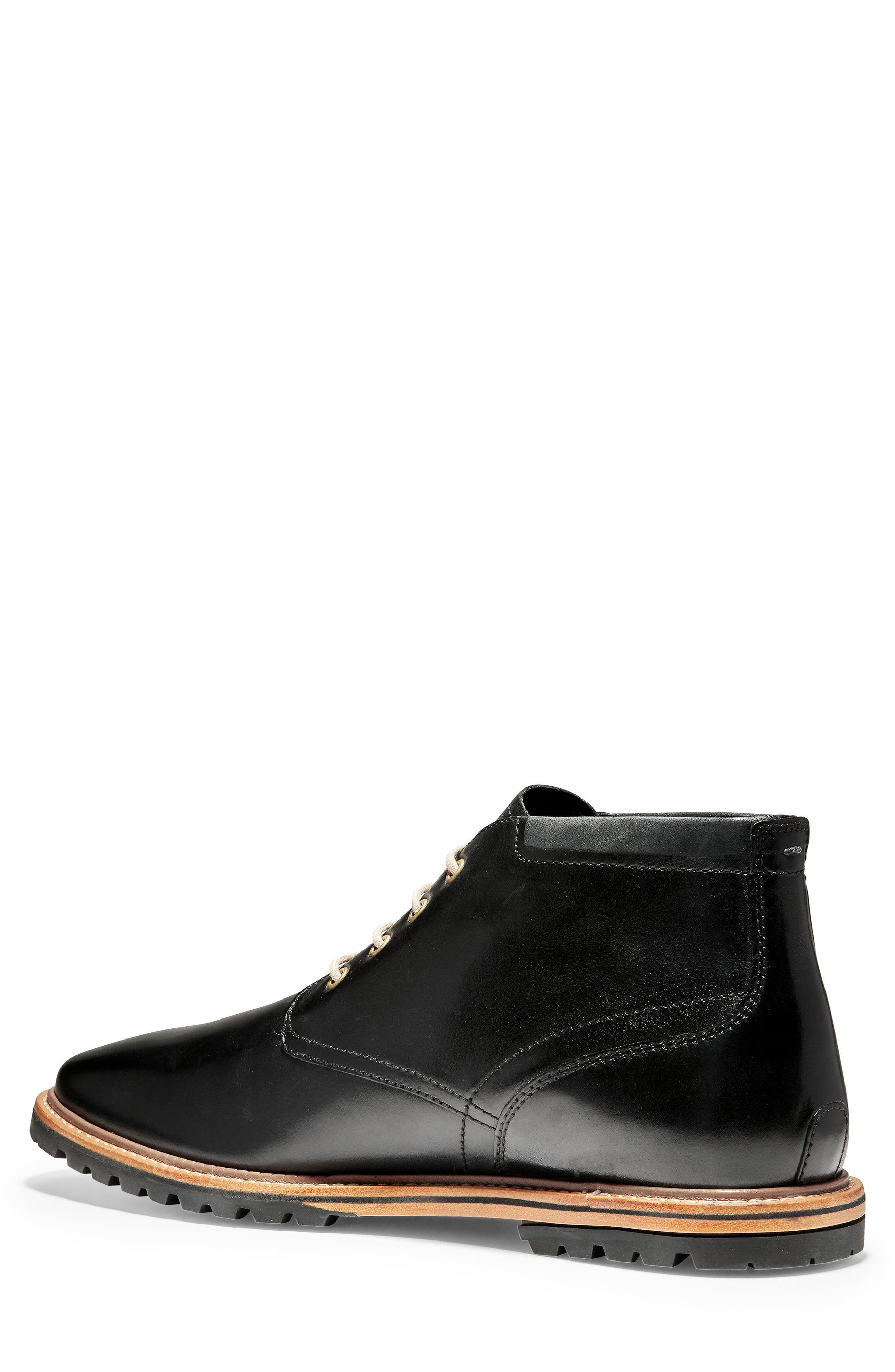 COLE HAAN, Raymond Grand Chukka Boot, Alternate thumbnail 2, color, BLACK LEATHER