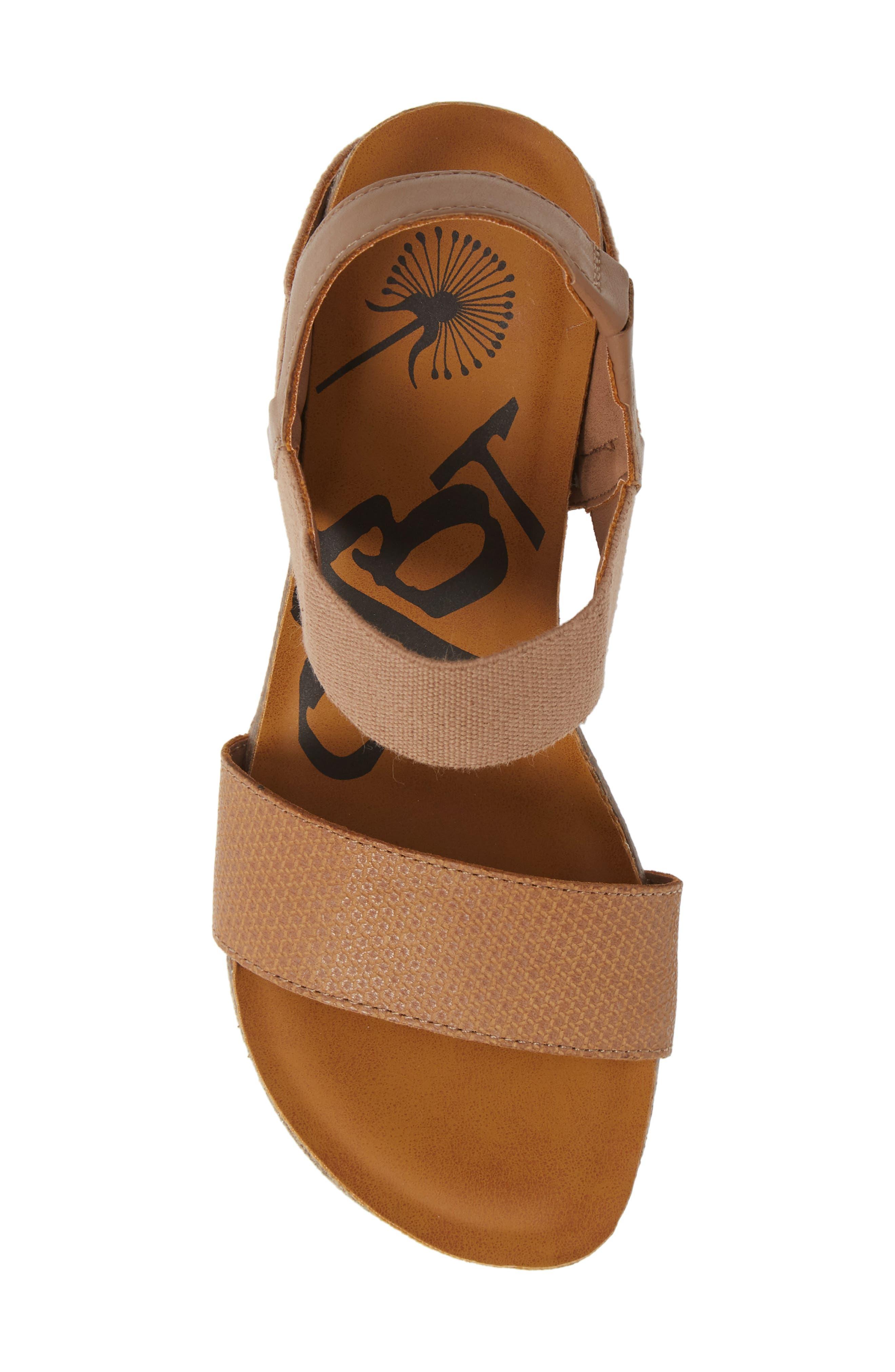 OTBT, 'Bushnell' Wedge Sandal, Alternate thumbnail 5, color, TAUPE LEATHER