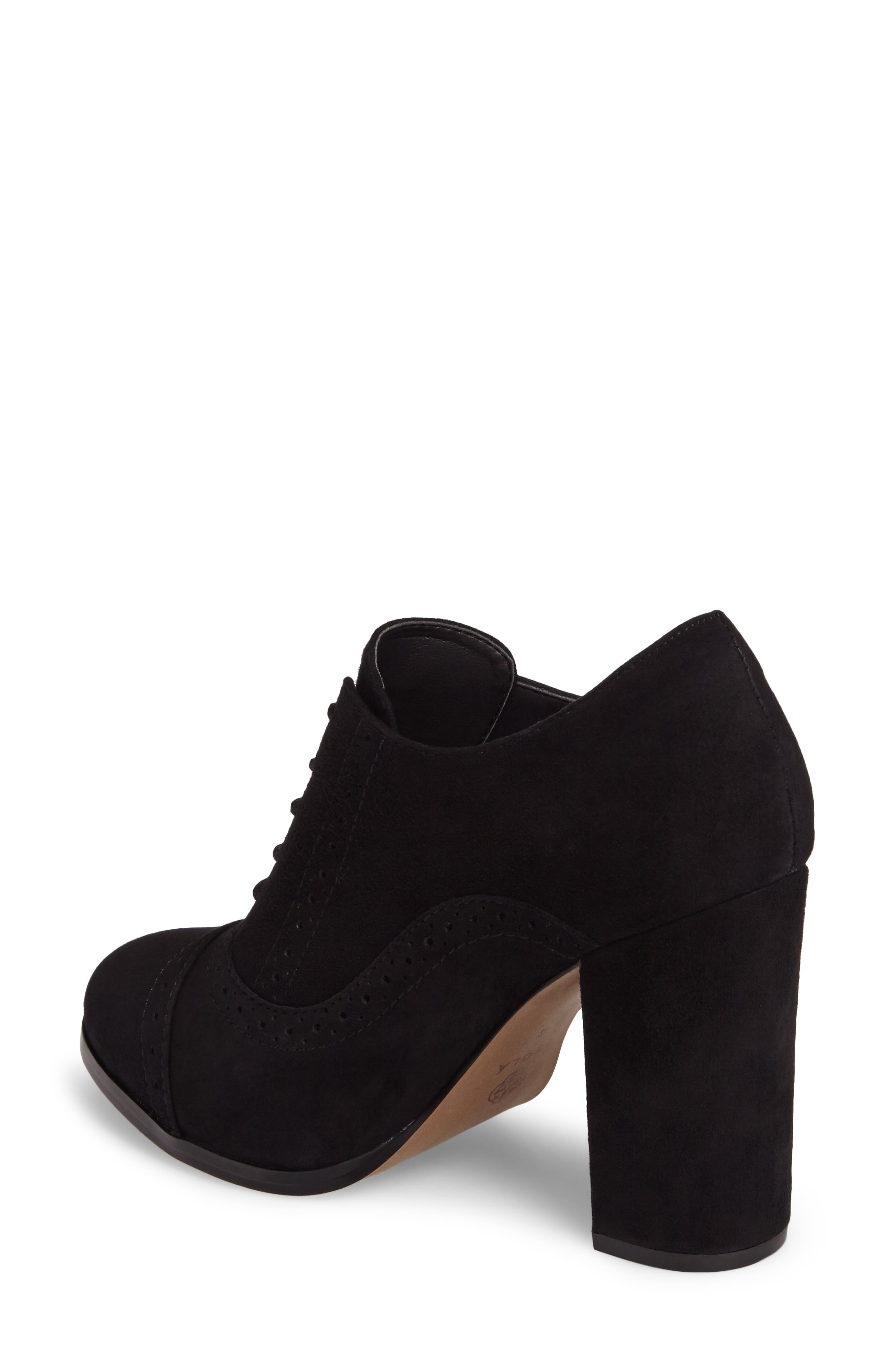 ISOLÁ, Holli Oxford Pump, Alternate thumbnail 2, color, BLACK SUEDE