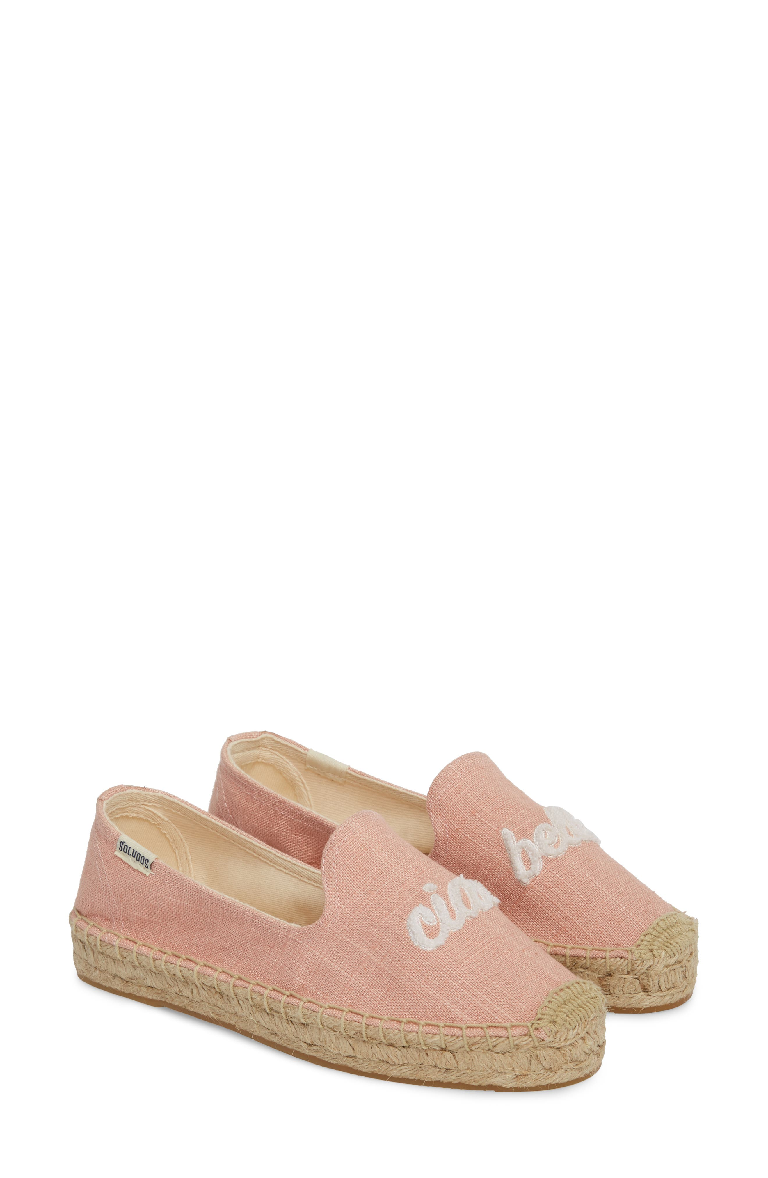 SOLUDOS, Ciao Bella Espadrille Flat, Alternate thumbnail 2, color, DUSTY ROSE FABRIC