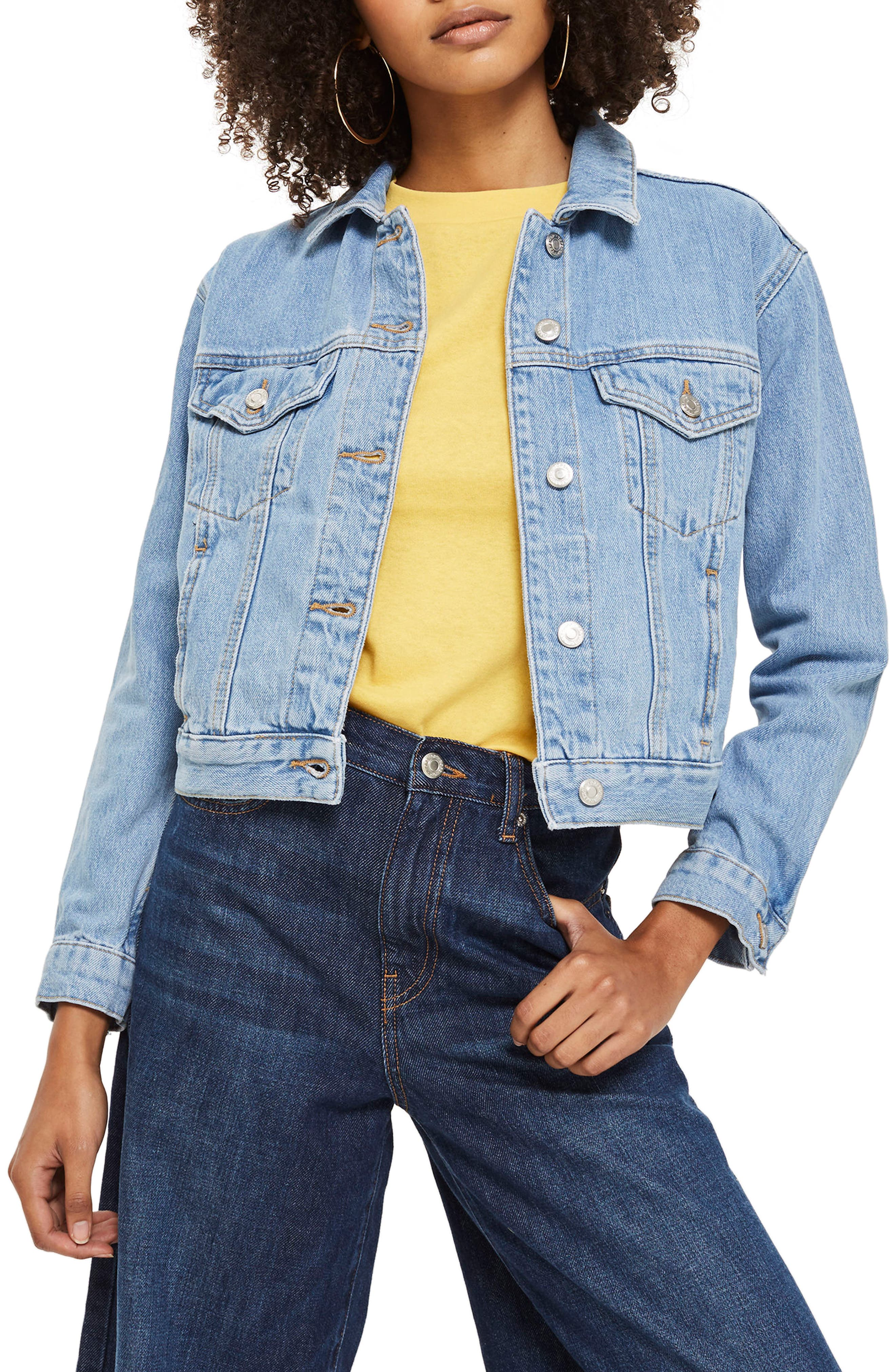 TOPSHOP, Matilda Western Jacket, Alternate thumbnail 3, color, 420