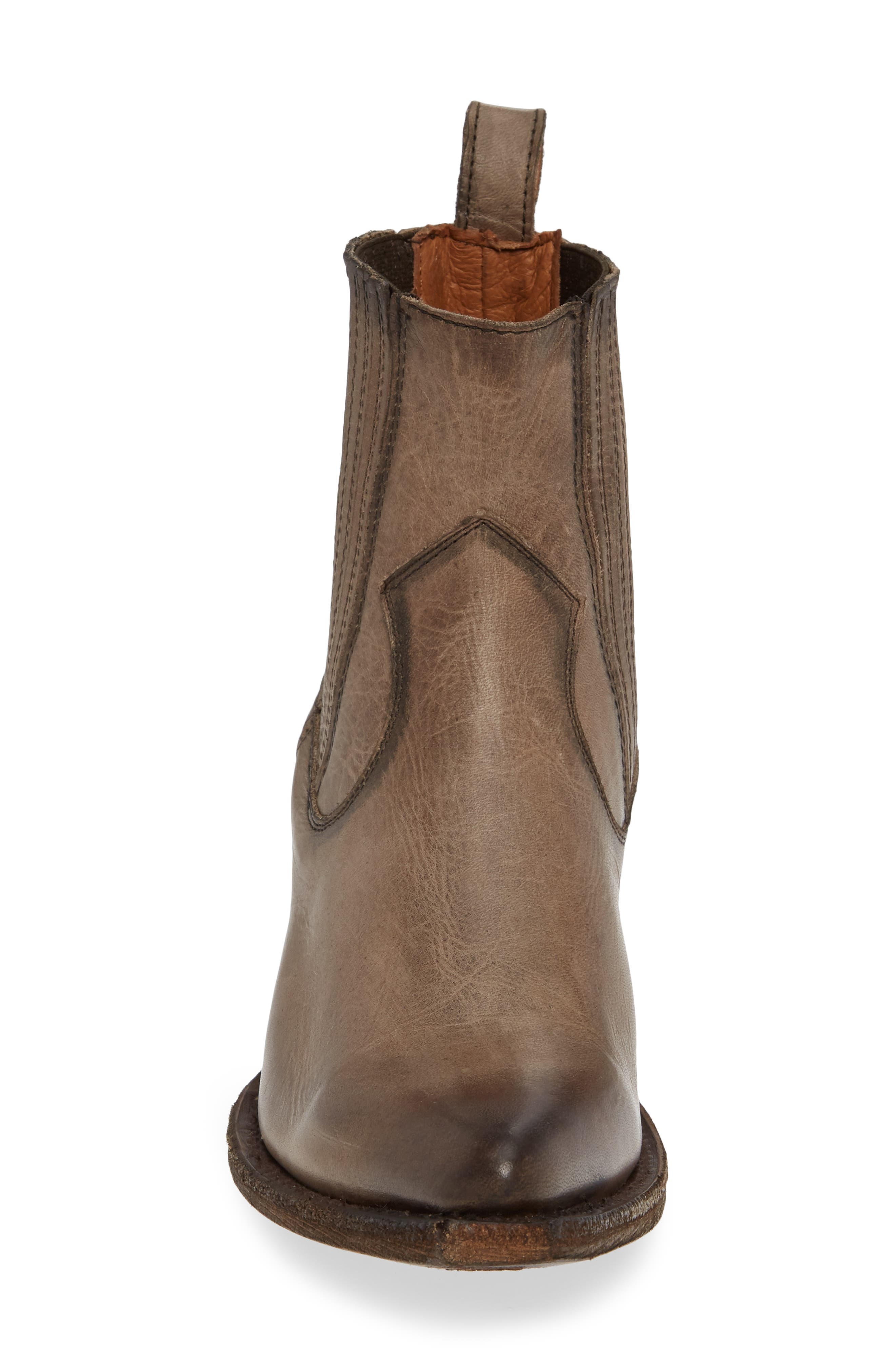 FRYE, Sacha Western Bootie, Alternate thumbnail 4, color, STONE LEATHER