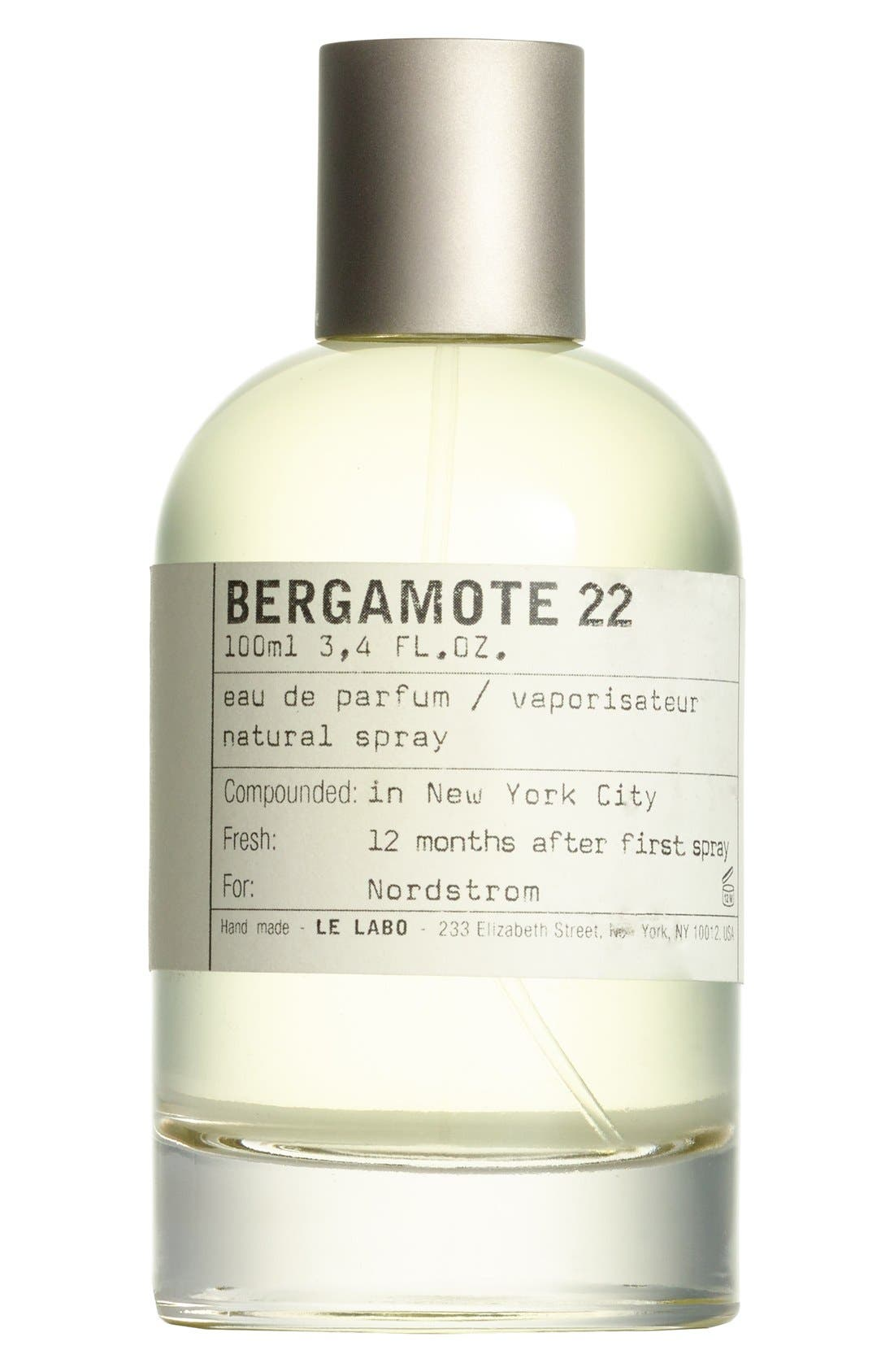 LE LABO 'Bergamote 22' Eau de Parfum, Main, color, NO COLOR