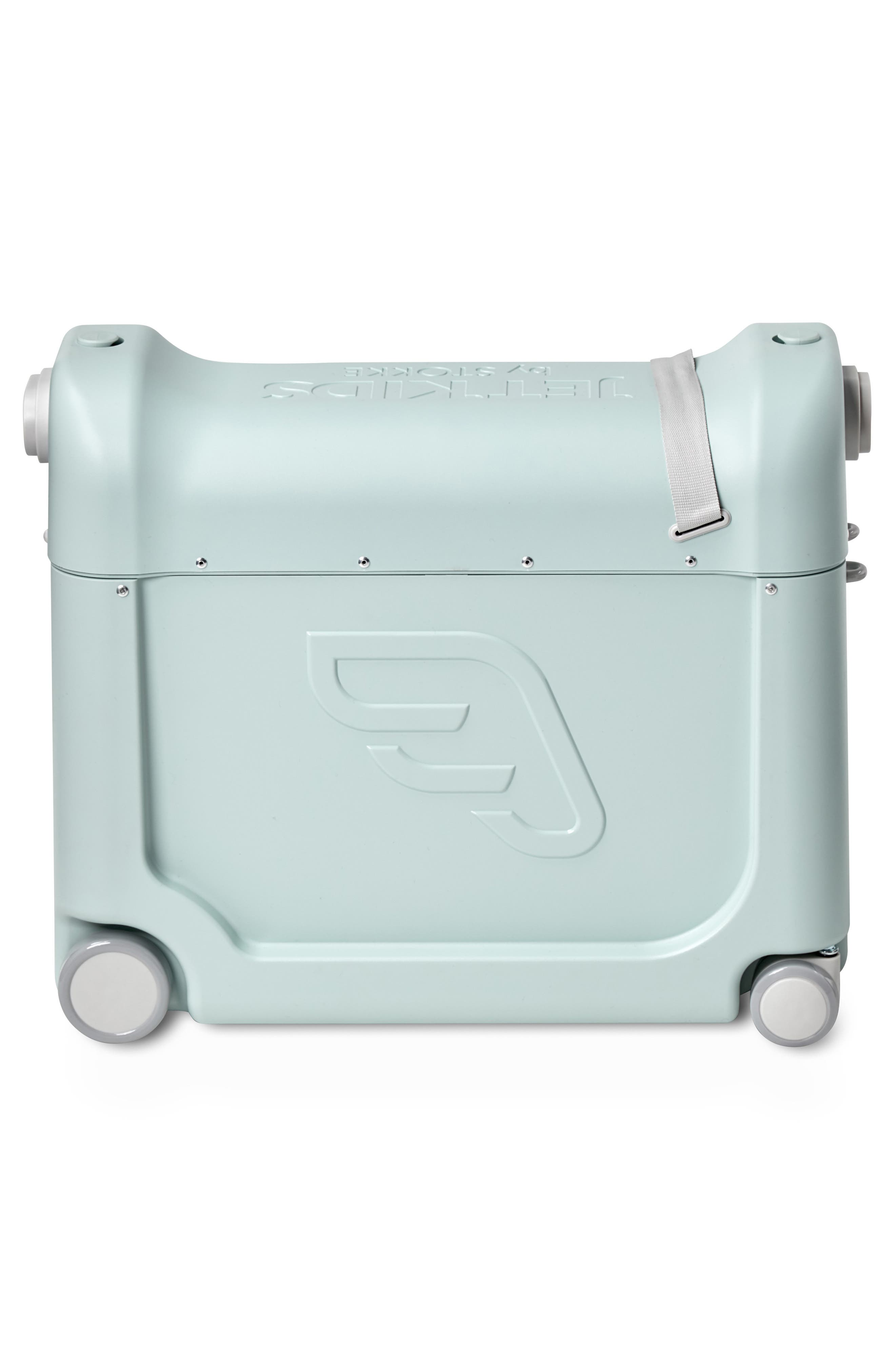 STOKKE, Jetkids by Stokke Bedbox<sup>®</sup> Ride-On Carry-On Suitcase, Alternate thumbnail 3, color, GREEN