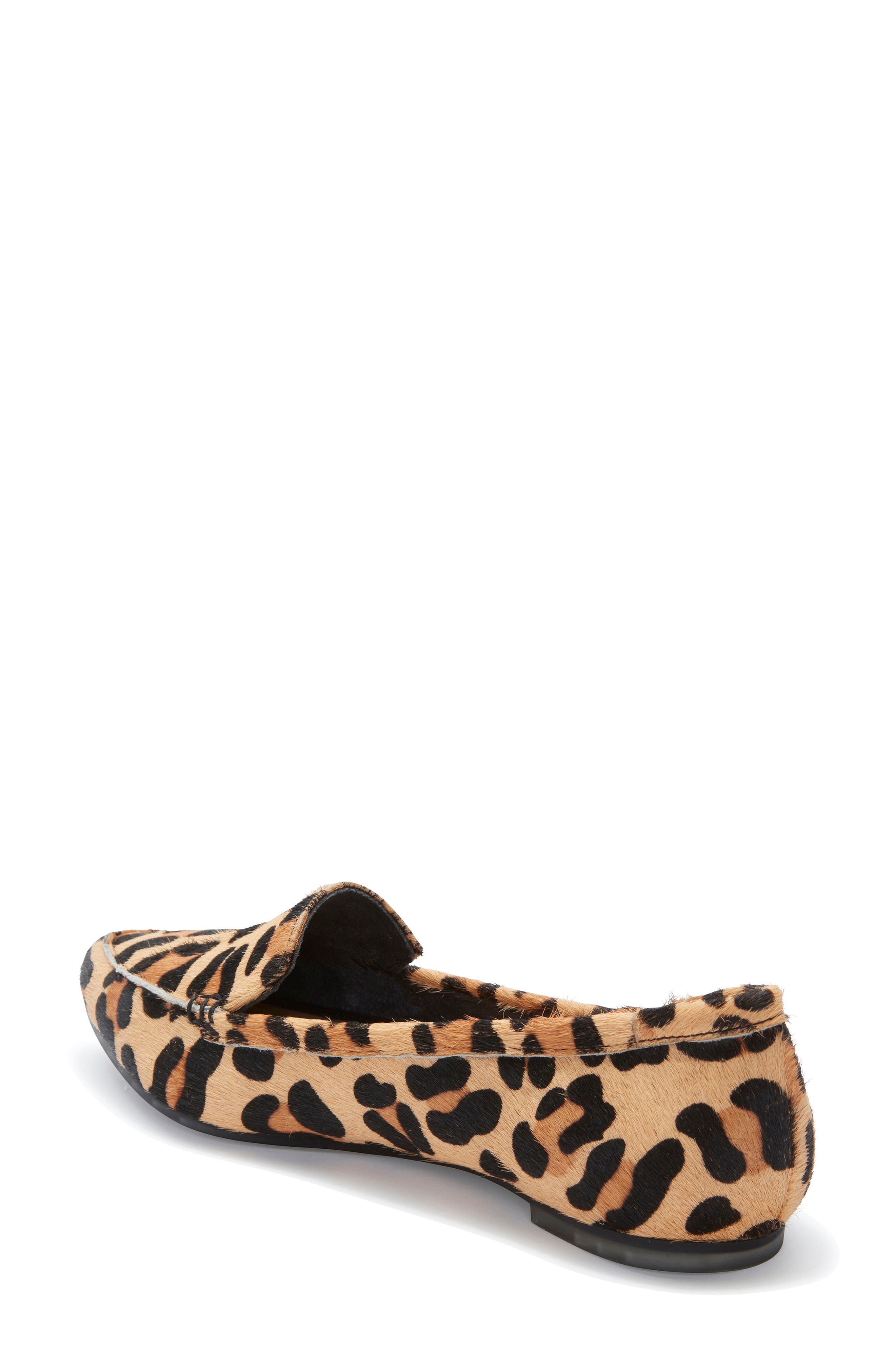 ME TOO, Audra Genuine Calf Hair Loafer Flat, Alternate thumbnail 2, color, TAN JAGUAR CALF HAIR