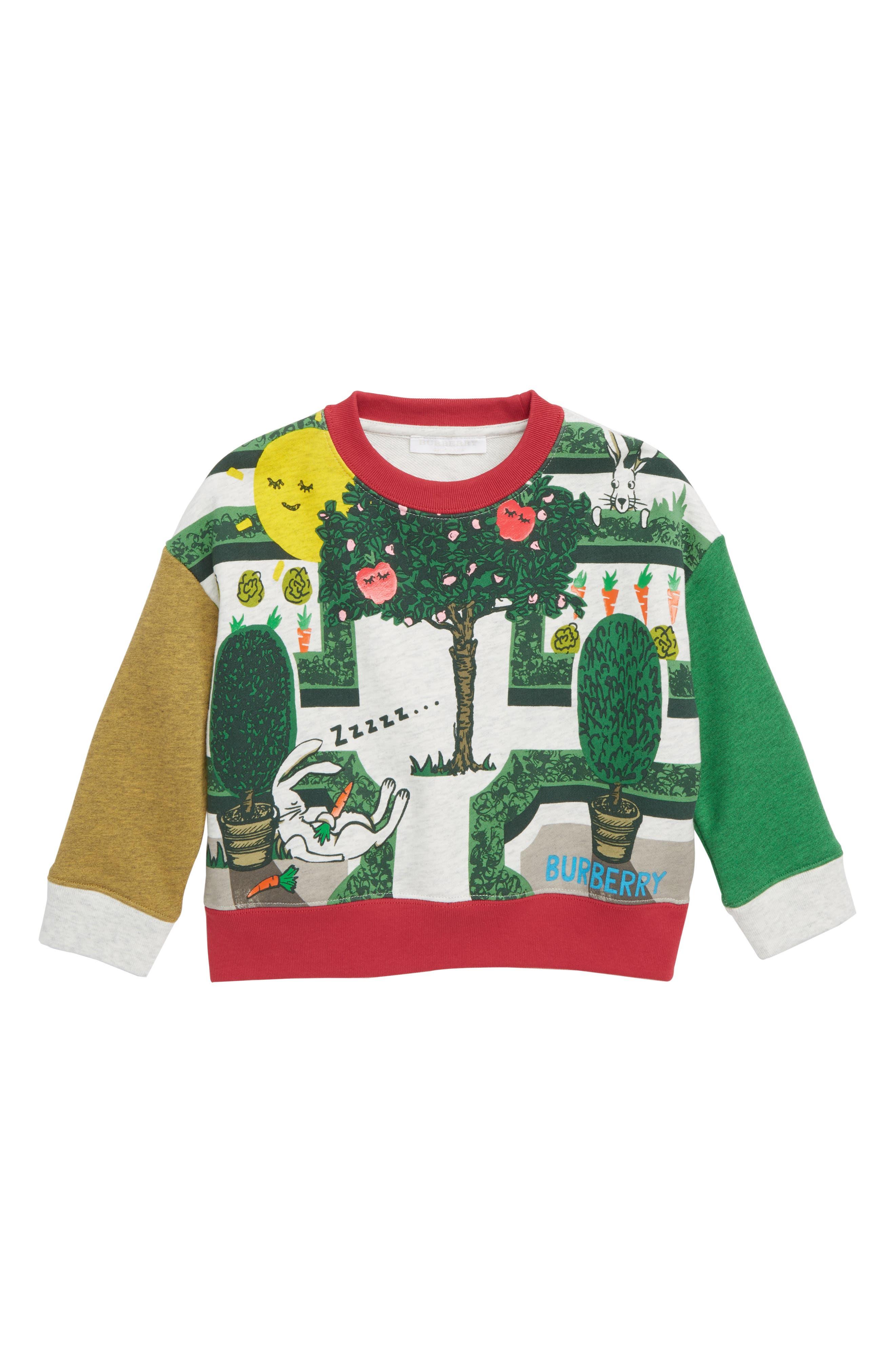 Toddler Girls Burberry Hedge Maze Graphic Sweatshirt Size 6Y  White