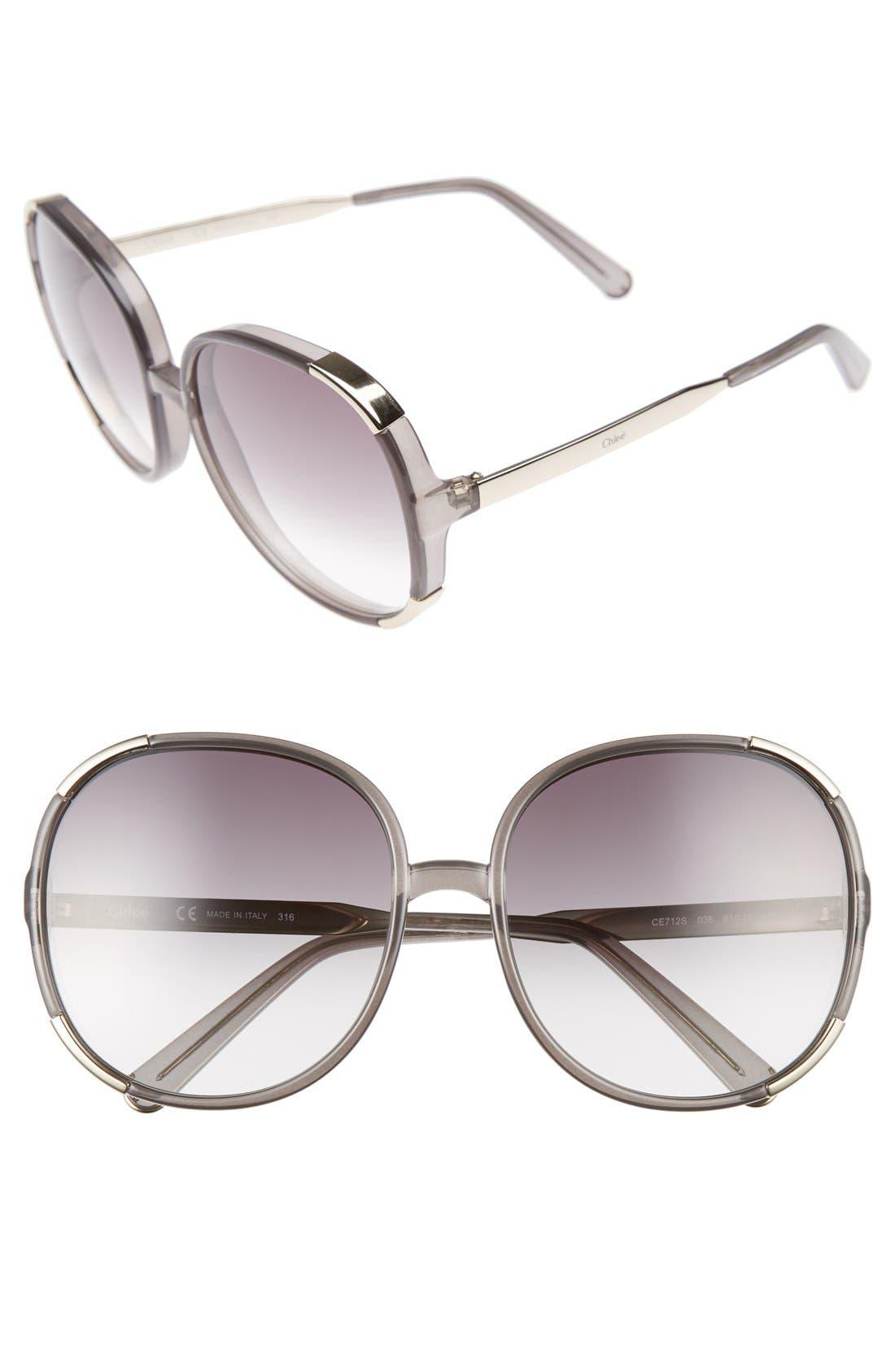 CHLOÉ Myrte 61mm Sunglasses, Main, color, 036