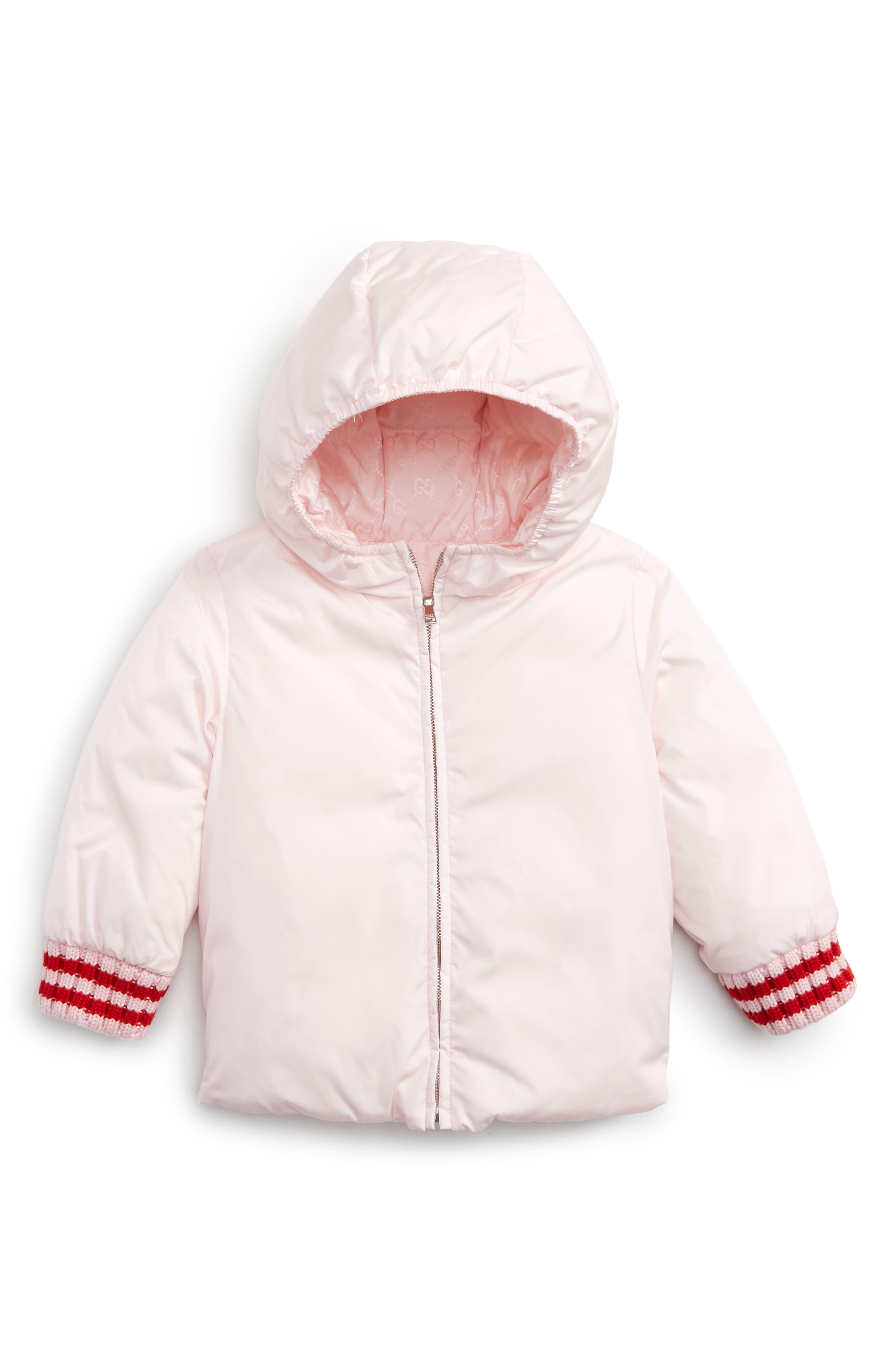 GUCCI, Reversible GG Jacquard Water-Resistant Down Jacket, Main thumbnail 1, color, 667