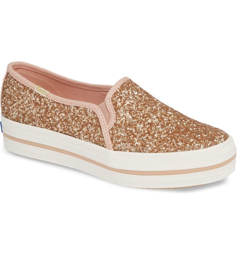 71ac6e84ac7 Keds® for kate spade new york triple decker glitter slip-on sneaker ...