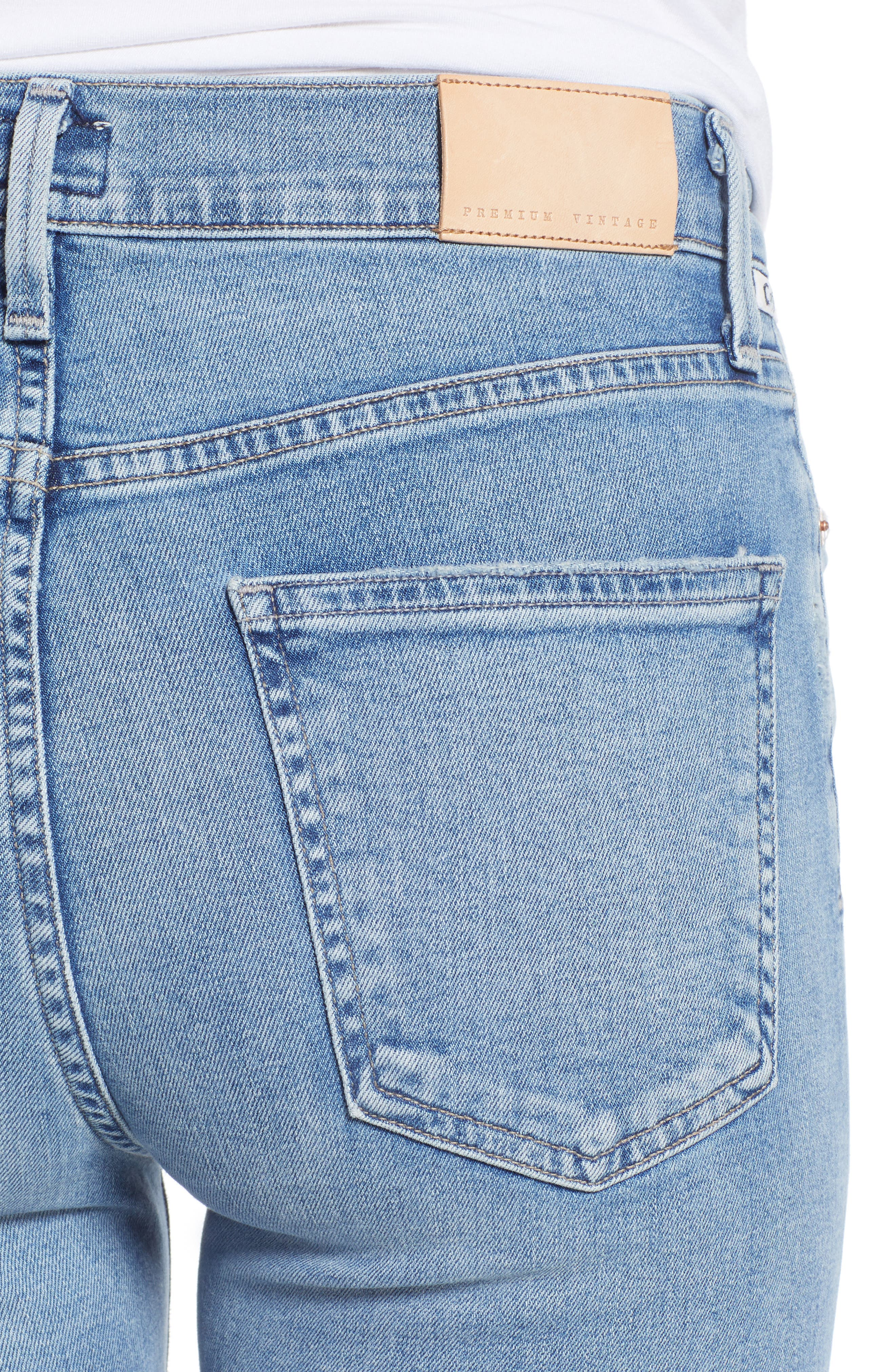 CITIZENS OF HUMANITY, Rocket High Waist Skinny Jeans, Alternate thumbnail 5, color, SMALL TALK