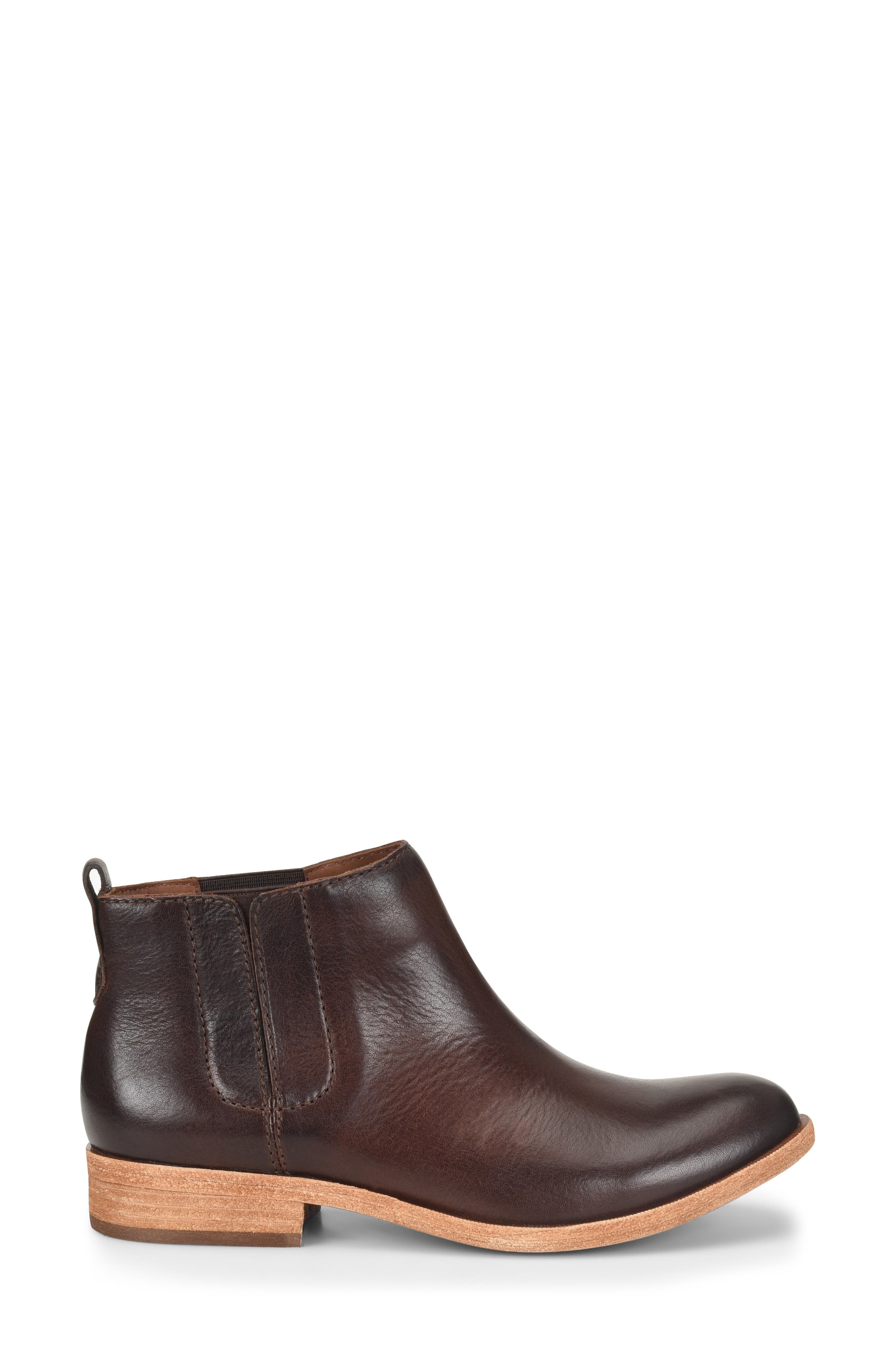 KORK-EASE<SUP>®</SUP>, Velma Bootie, Alternate thumbnail 3, color, DARK BROWN LEATHER