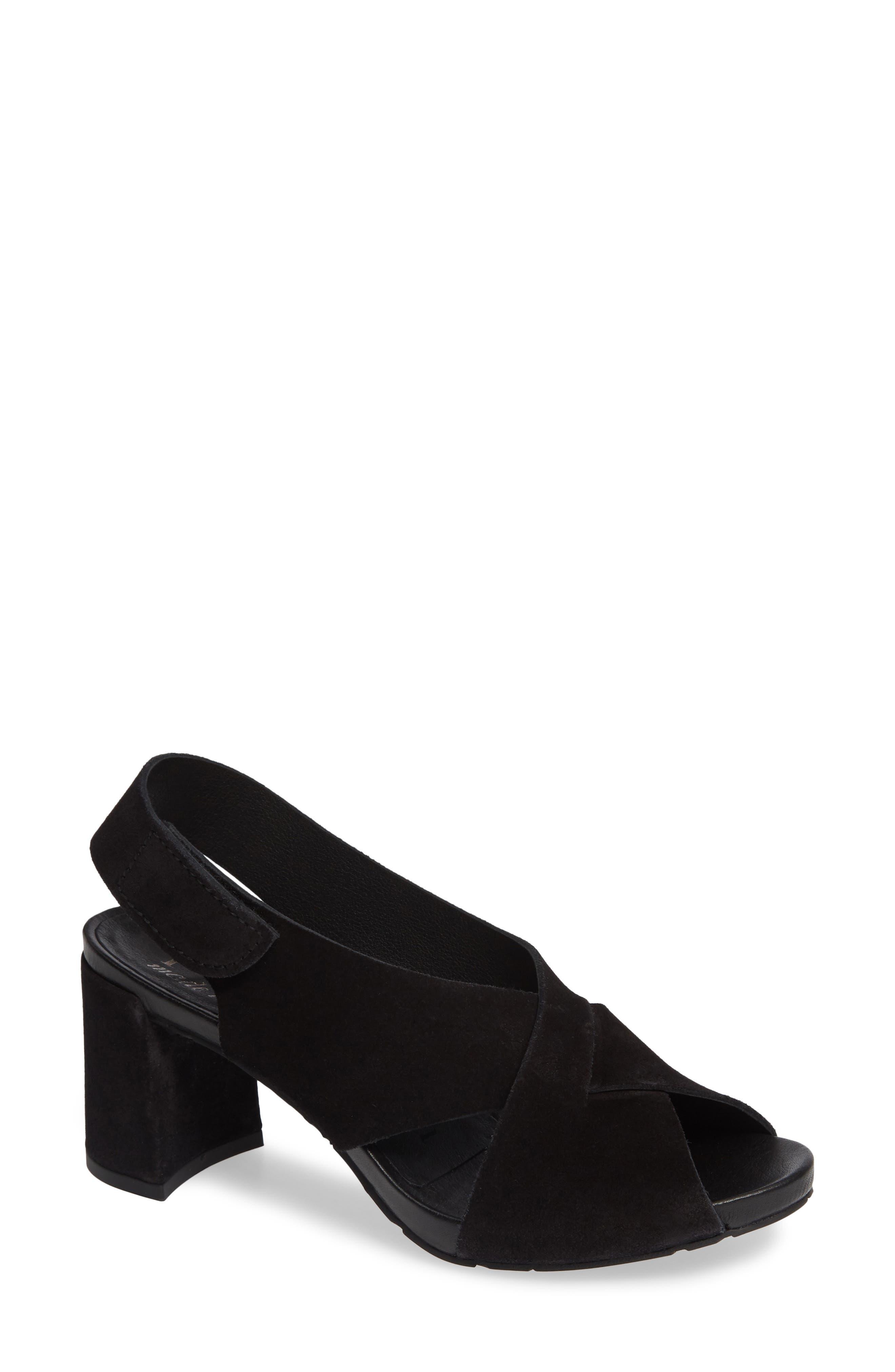 PEDRO GARCIA Wiela Slingback Sandal, Main, color, BLACK CASTORO