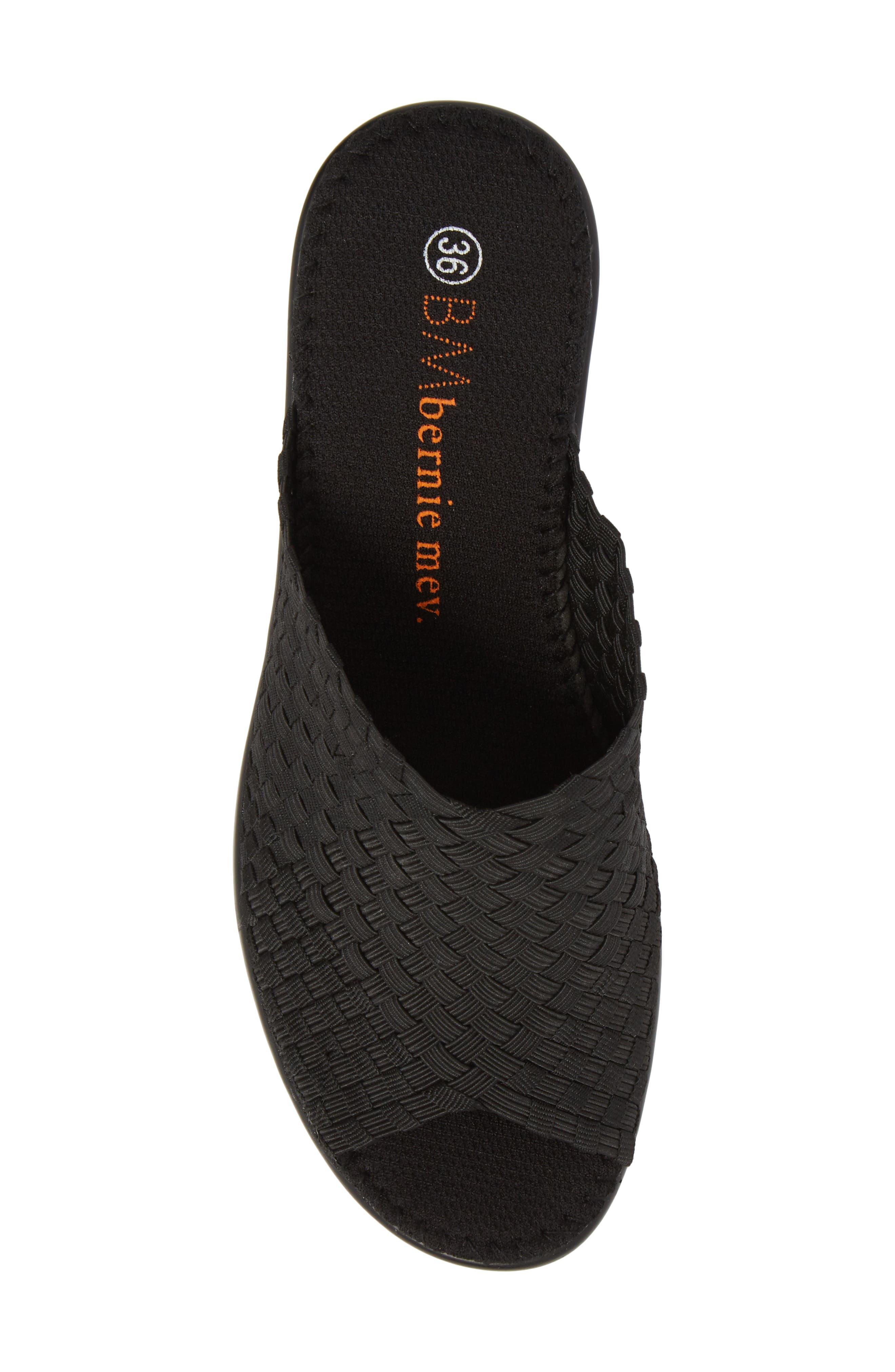 BERNIE MEV., Sun Texas Sandal, Alternate thumbnail 5, color, BLACK FABRIC