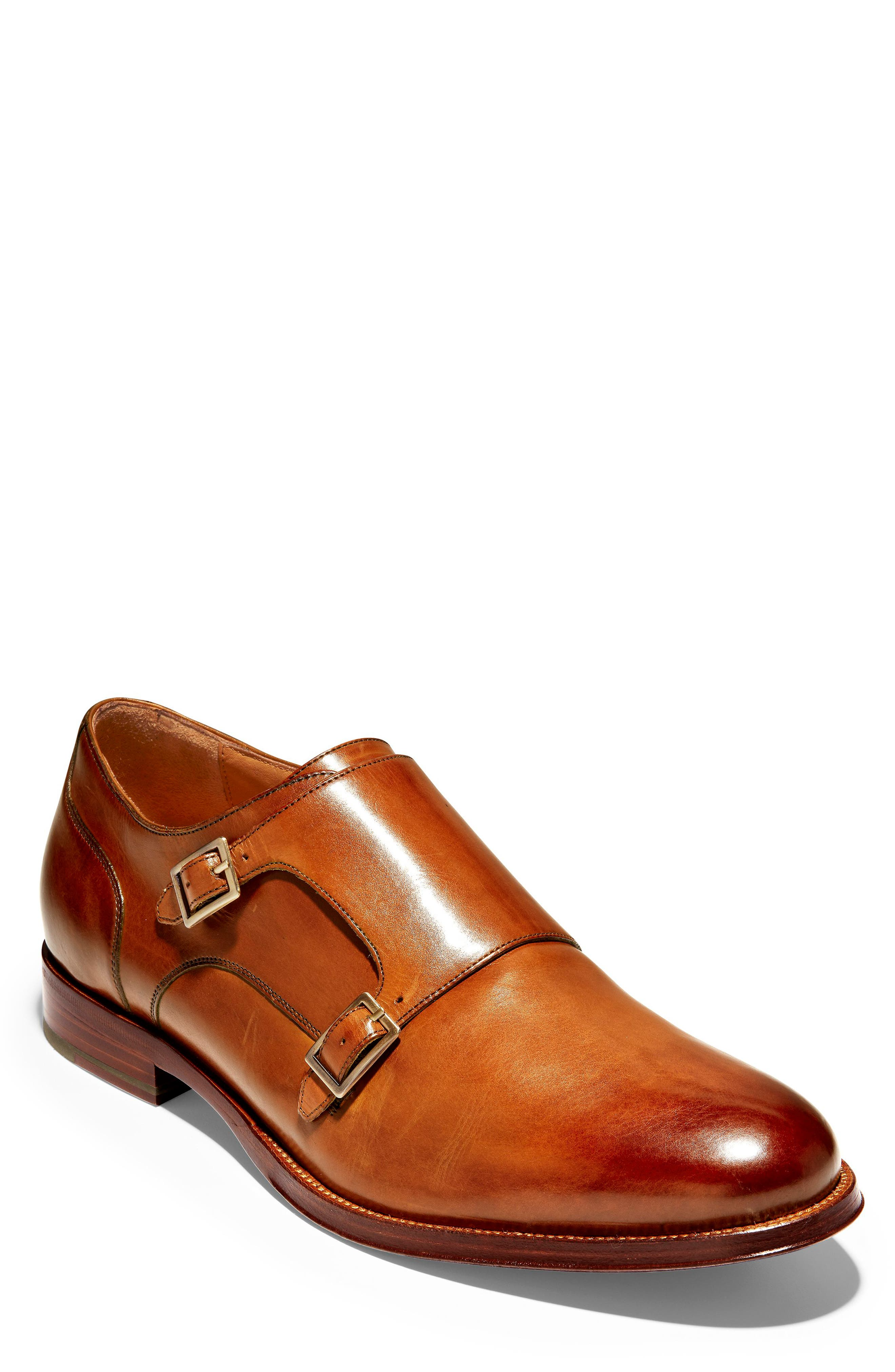 COLE HAAN, American Classics Gramercy Double Strap Monk Shoe, Main thumbnail 1, color, BRITISH TAN LEATHER