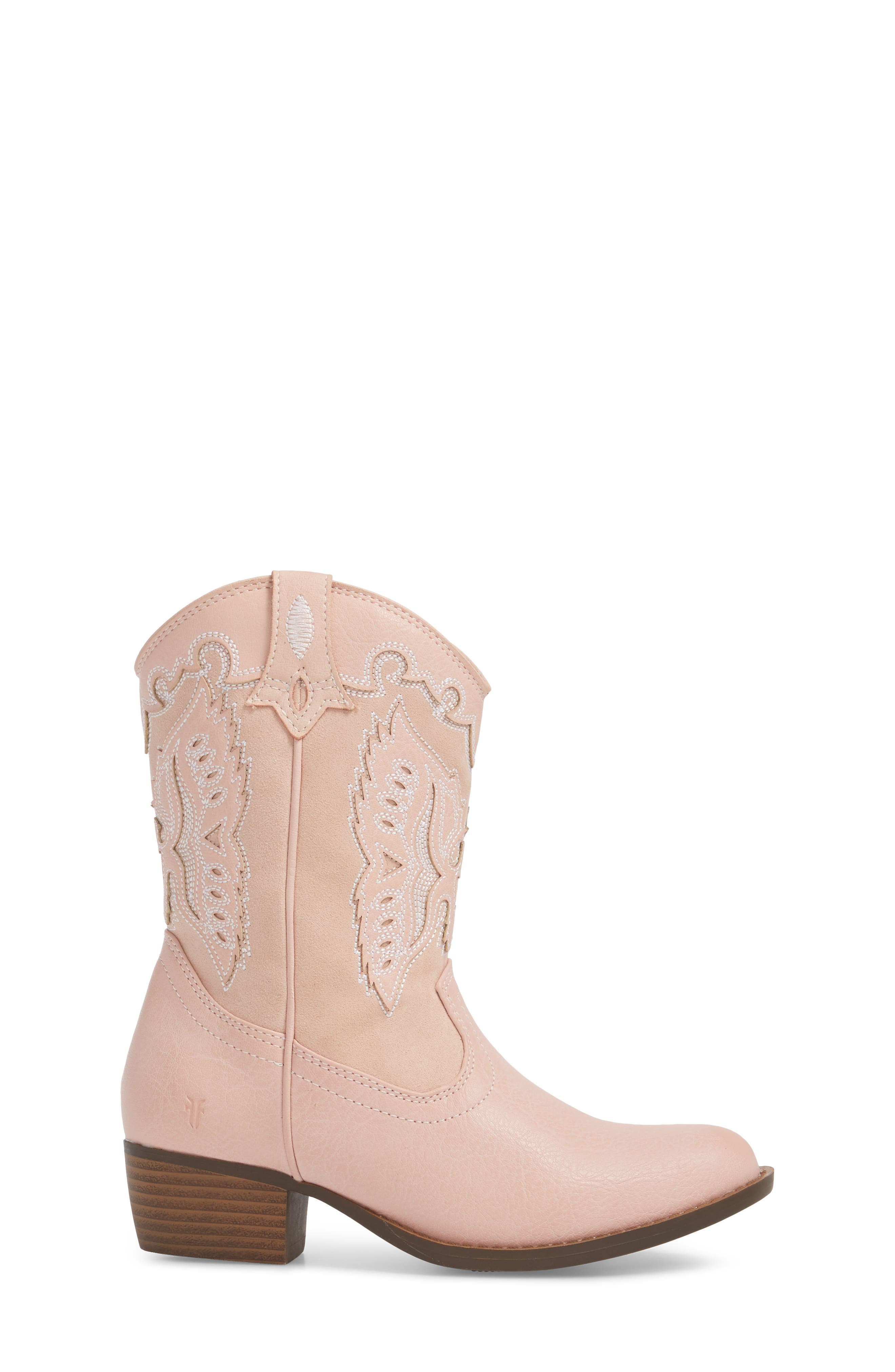 FRYE, Carson Firebird Cowgirl Boot, Alternate thumbnail 3, color, PINK