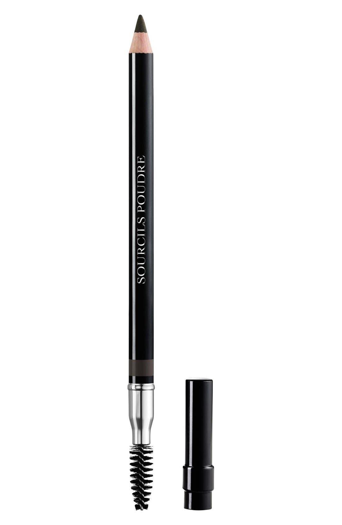 DIOR, Sourcils Poudre Powder Eyebrow Pencil, Main thumbnail 1, color, 093 BLACK