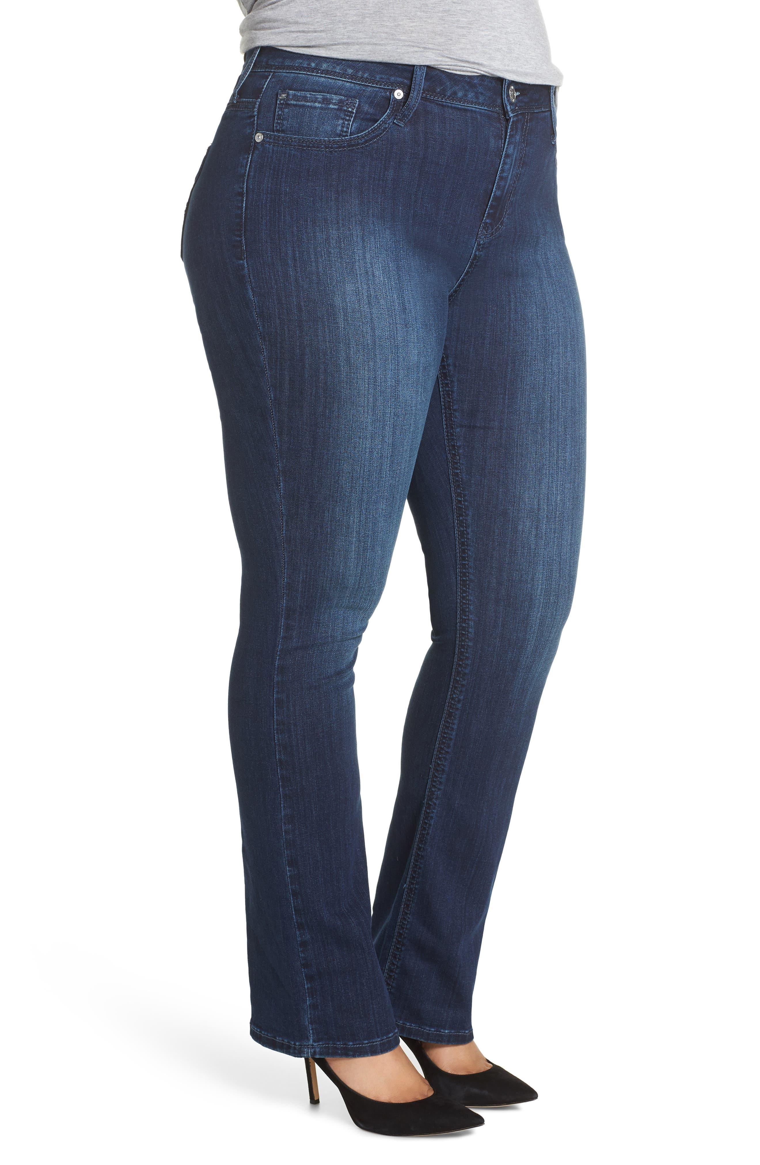 SEVEN7, Rocker Flap Pocket Slim Bootcut Jeans, Alternate thumbnail 4, color, CHALLENGER