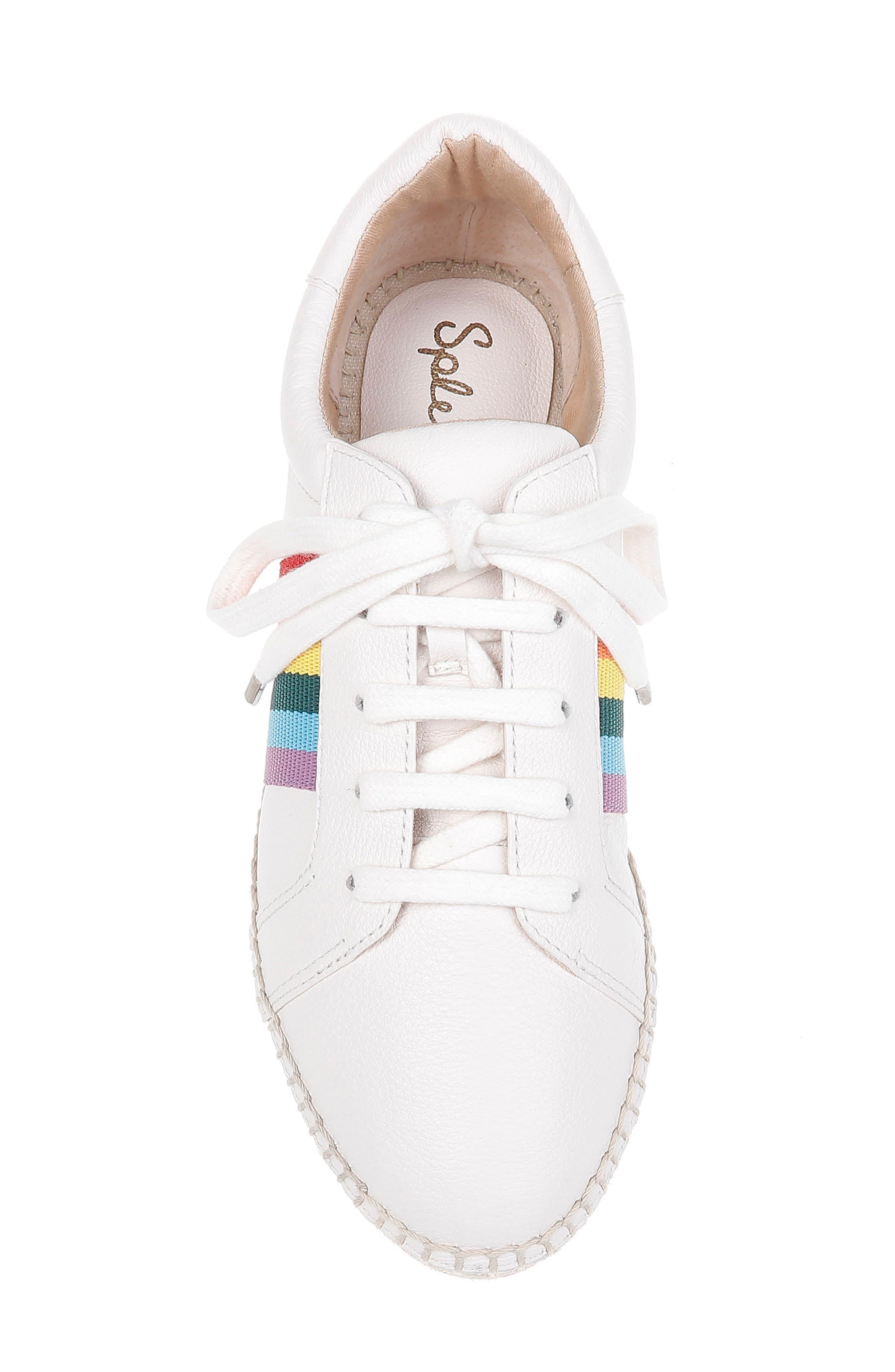 SPLENDID, Sada Espadrille Sneaker, Alternate thumbnail 5, color, OFF WHITE LEATHER