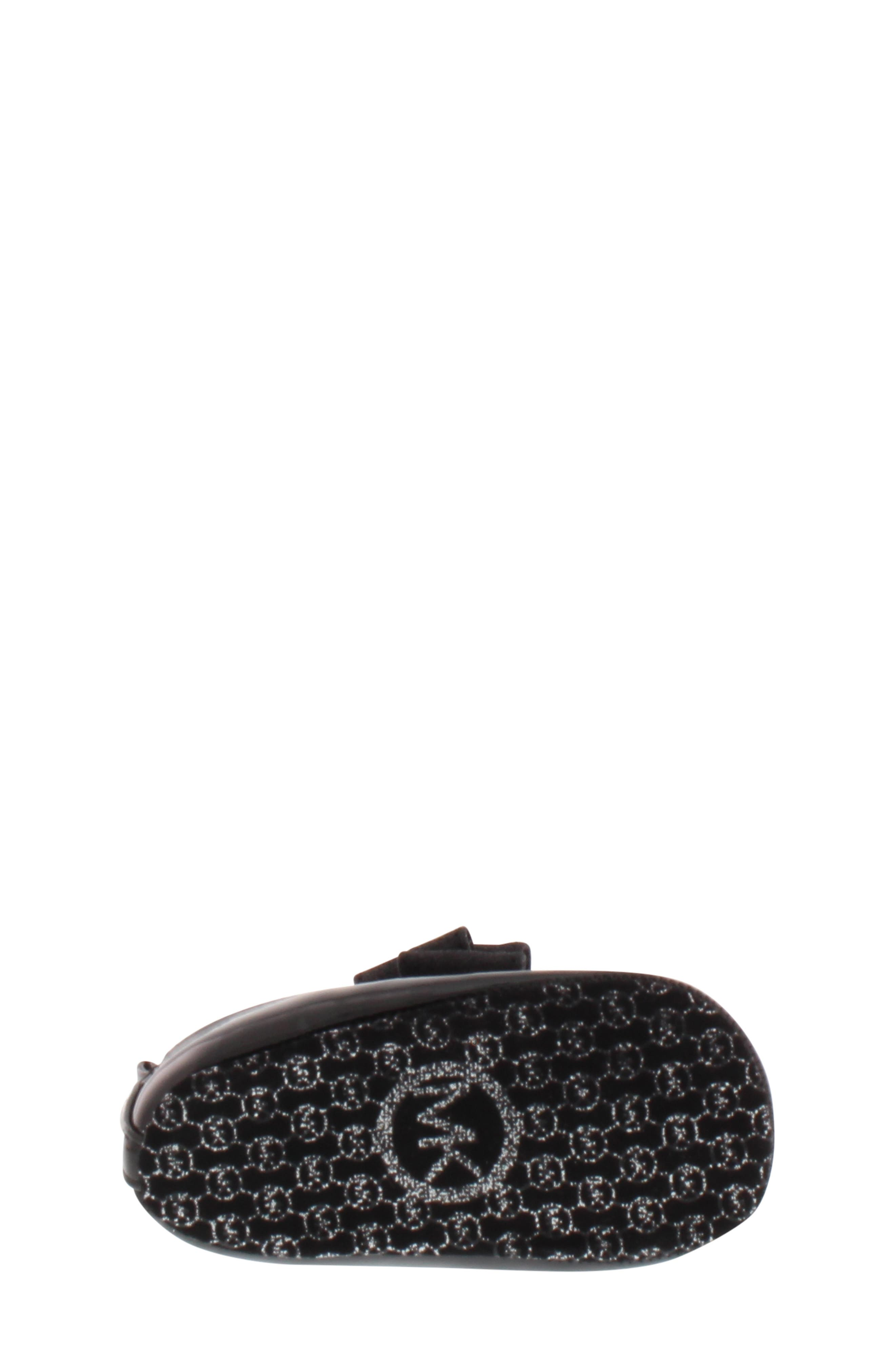MICHAEL MICHAEL KORS, Baby Day Glittery Crib Flat, Alternate thumbnail 6, color, BLACK/ BLACK GLITTER