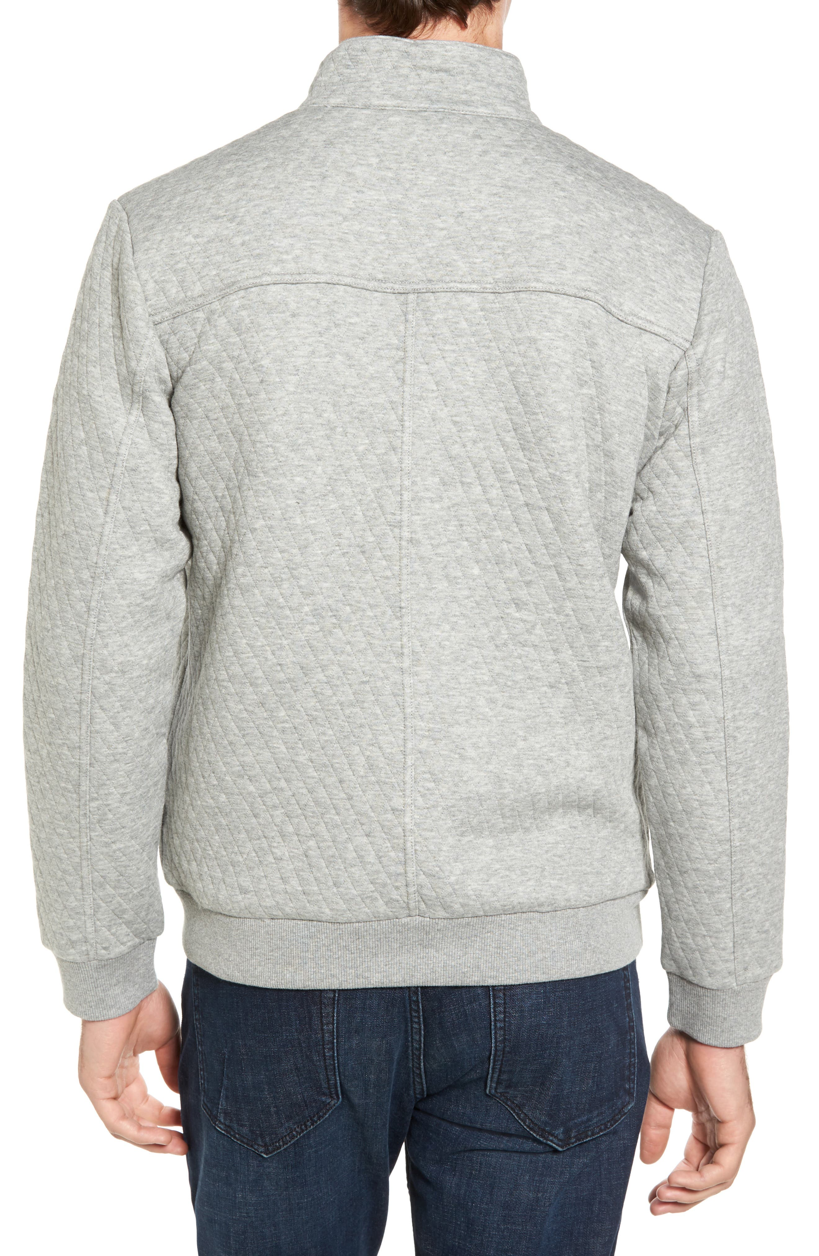 RODD & GUNN, Skipjack Pass Quilted Fleece Jacket, Alternate thumbnail 2, color, ASH