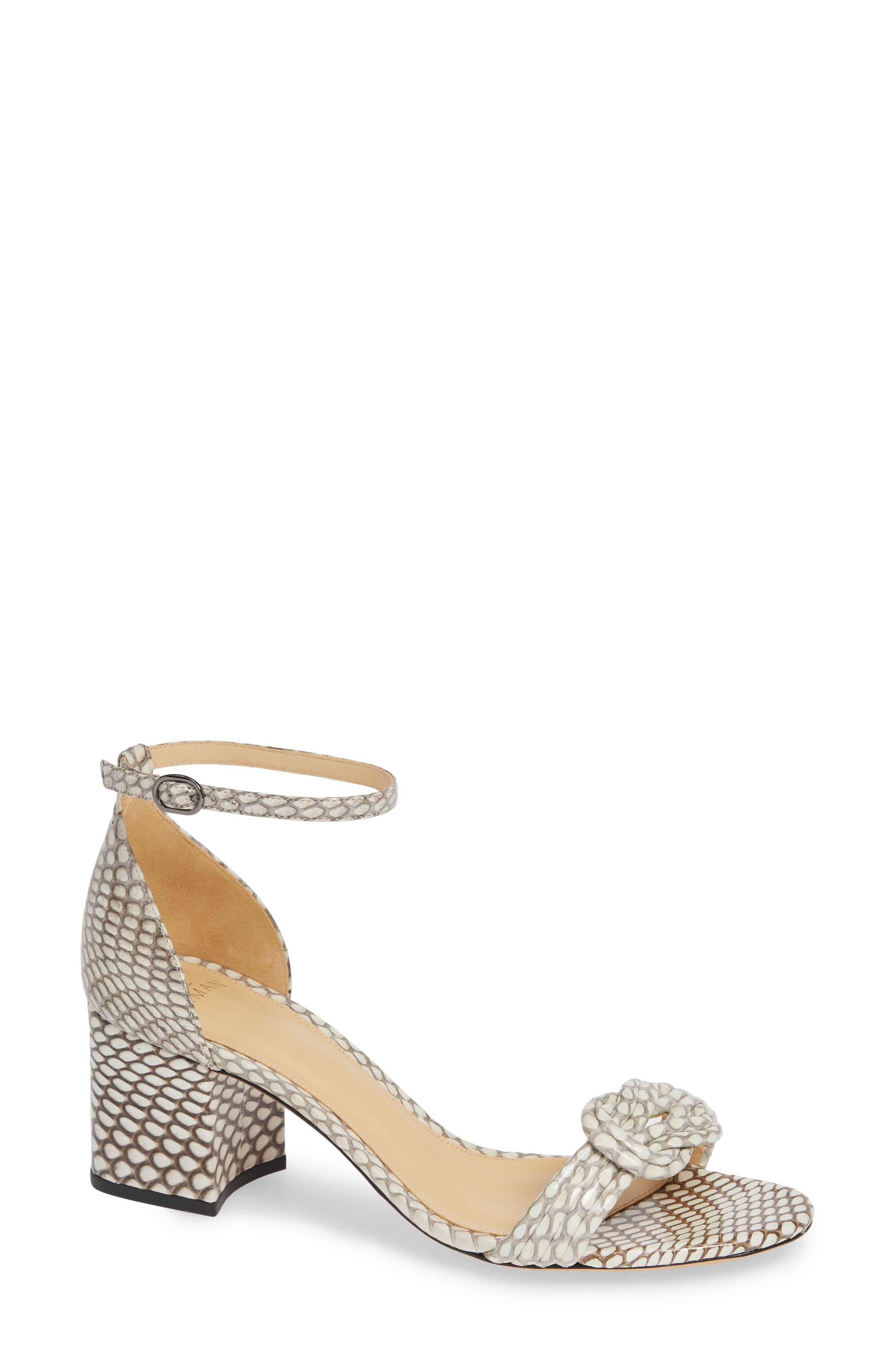 ALEXANDRE BIRMAN Vicky Genuine Snakeskin Sandal, Main, color, NATURAL SNAKESKIN