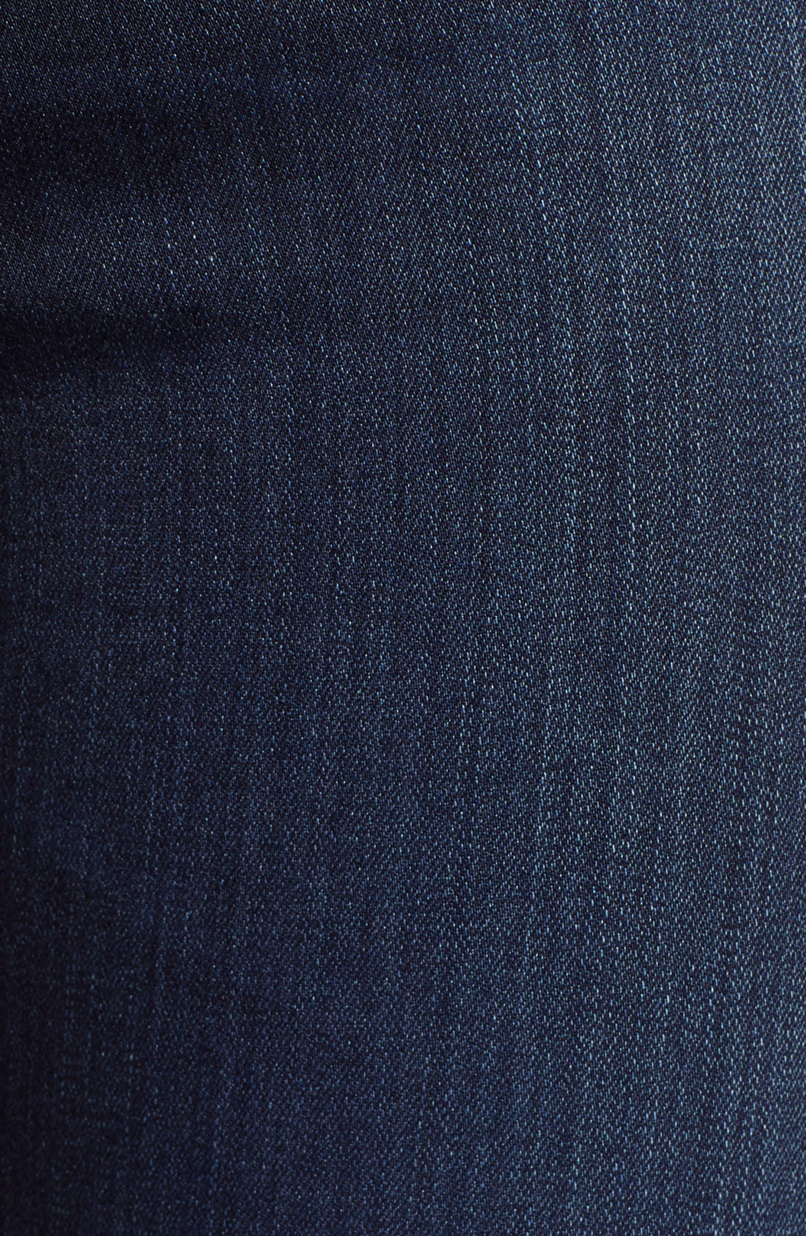 AG, Farrah High Waist Skinny Jeans, Alternate thumbnail 6, color, BLUE BASIN