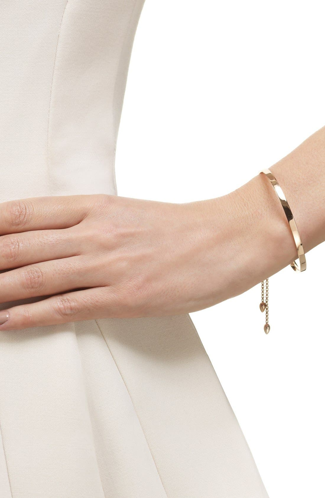 MONICA VINADER, Fiji Chain Bracelet, Alternate thumbnail 2, color, ROSE GOLD