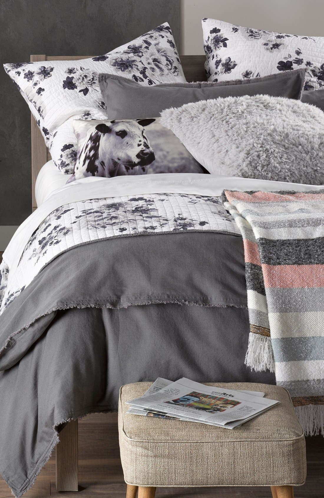 NORDSTROM AT HOME, 'Terra' Cotton & Linen Duvet Cover, Alternate thumbnail 2, color, 021