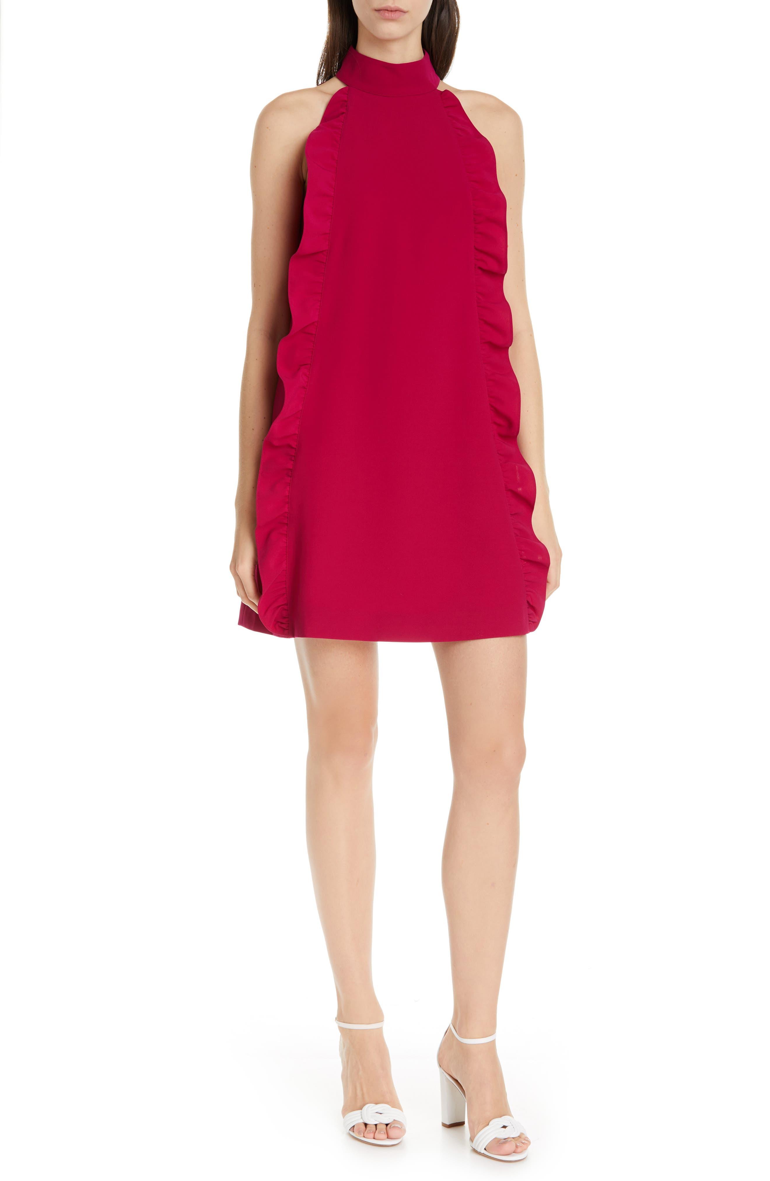 Ted Baker London Torriya Ruffle Tunic Dress, Pink