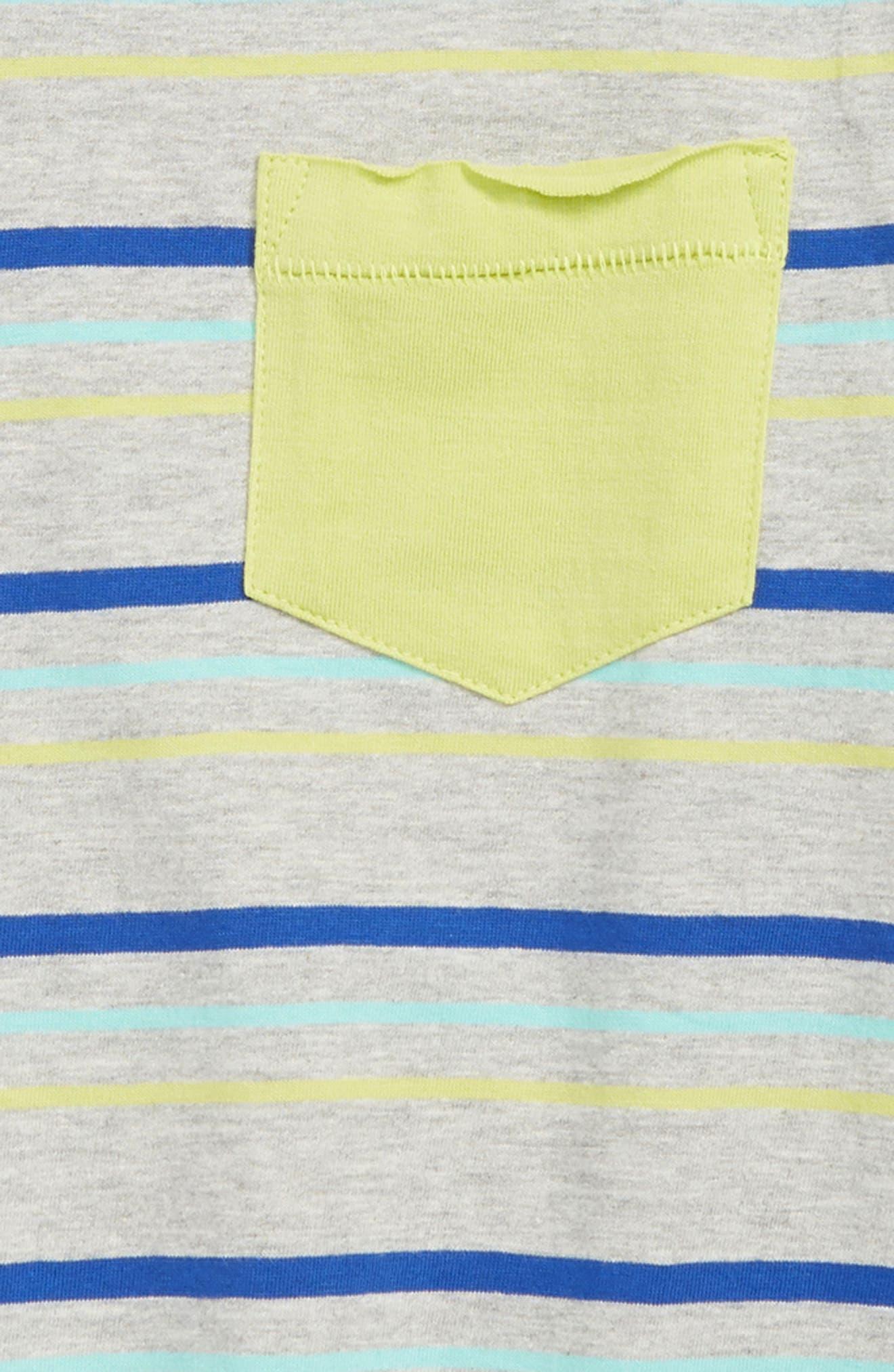 HATLEY, Stripes T-Shirt, Alternate thumbnail 2, color, GREY