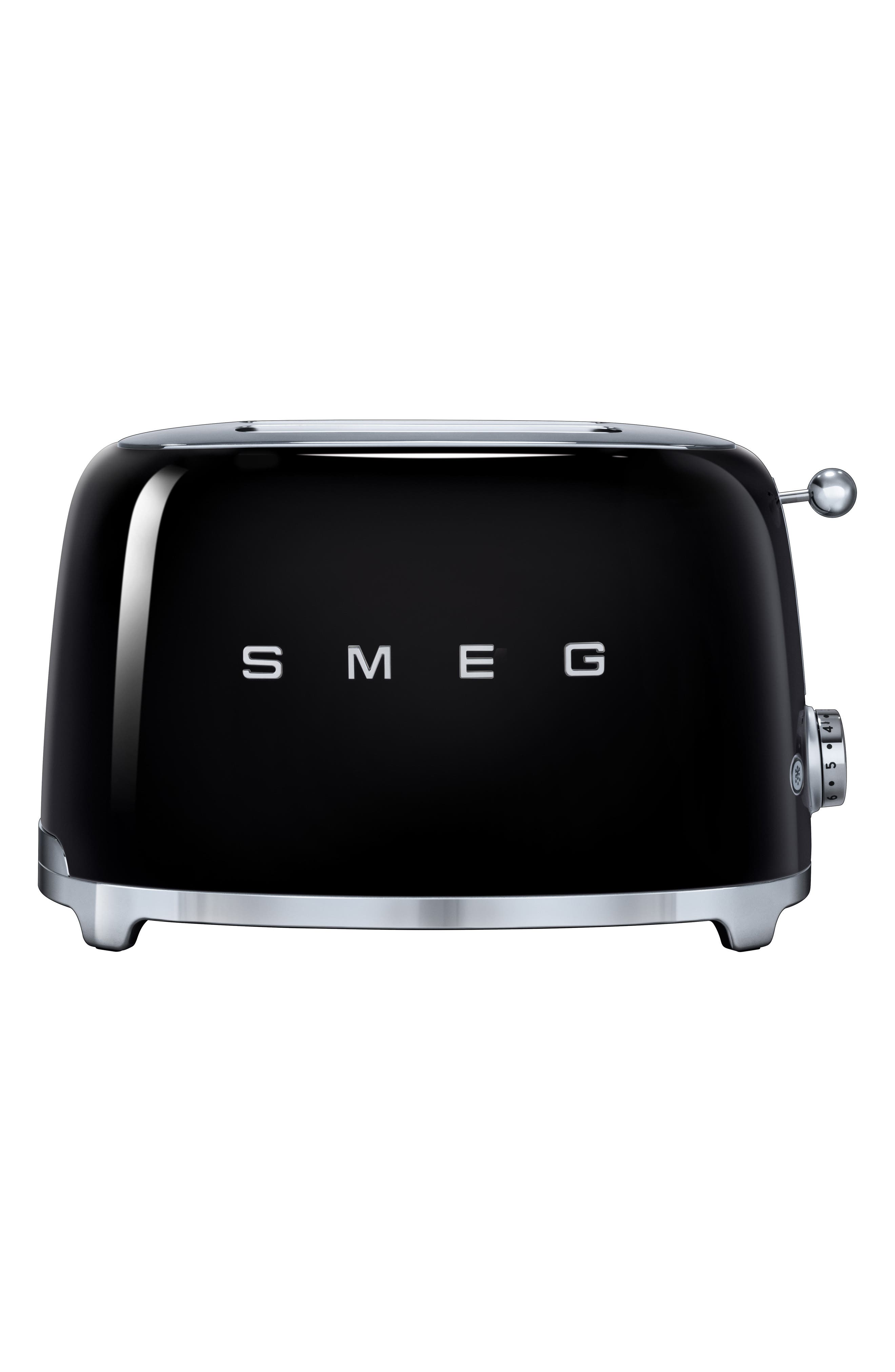 SMEG, 50s Retro Style Two-Slice Toaster, Main thumbnail 1, color, BLACK