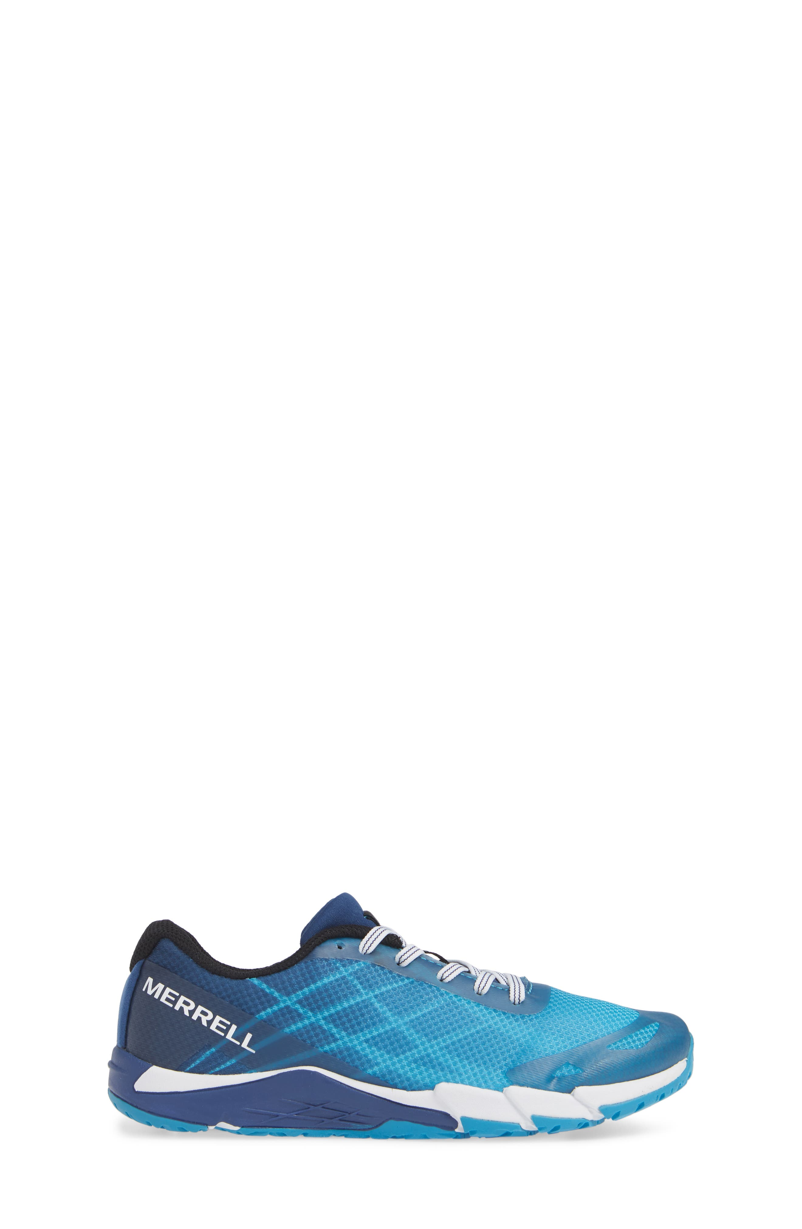 MERRELL, Bare Access Sneaker, Alternate thumbnail 3, color, BLUE SYNTHETIC
