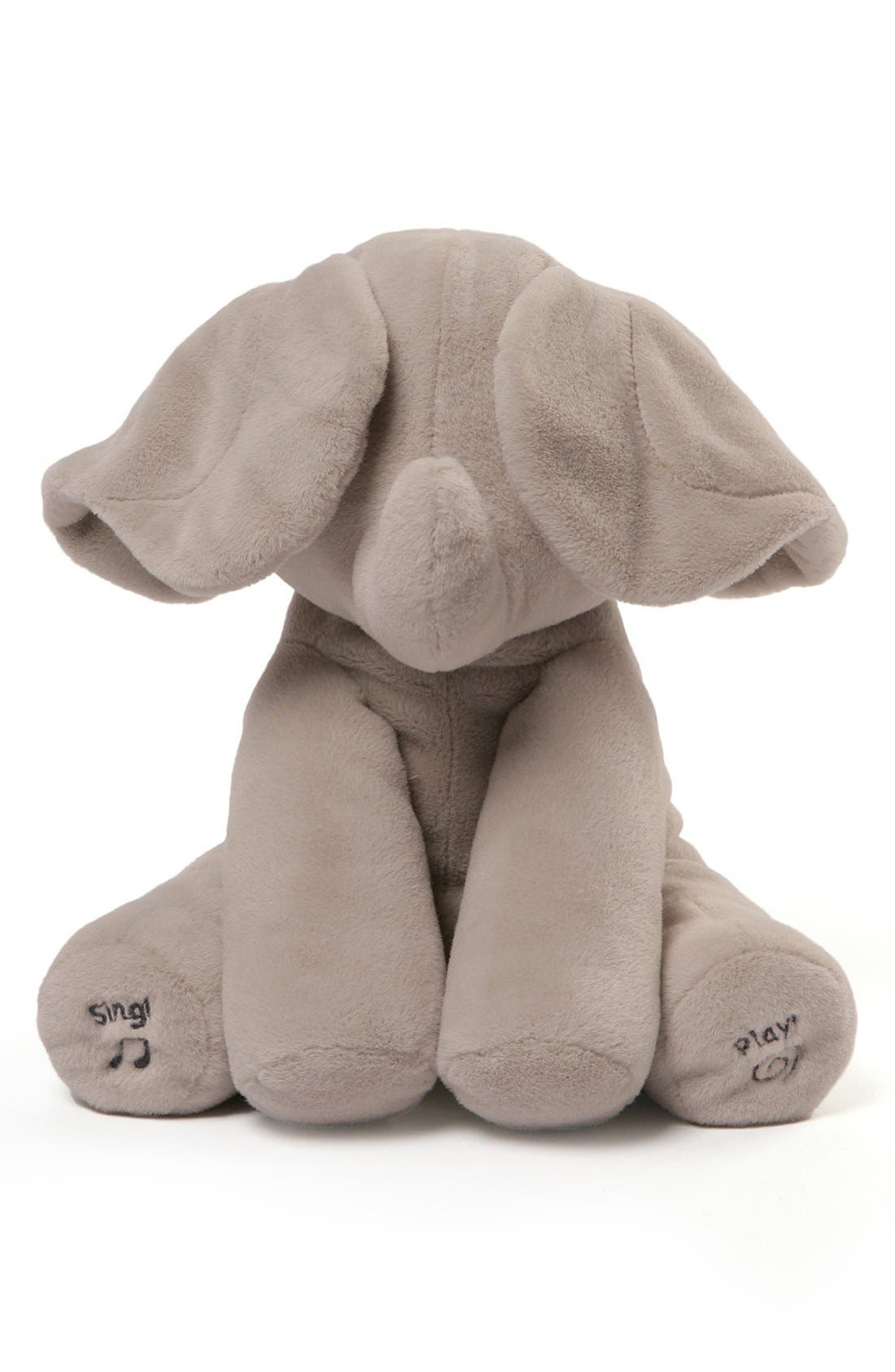GUND, Baby Gund 'Flappy The Elephant' Musical Elephant, Alternate thumbnail 3, color, GREY