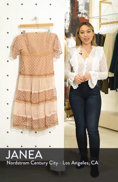 Kristen Off the Shoulder Lace Midi Dress, sales video thumbnail