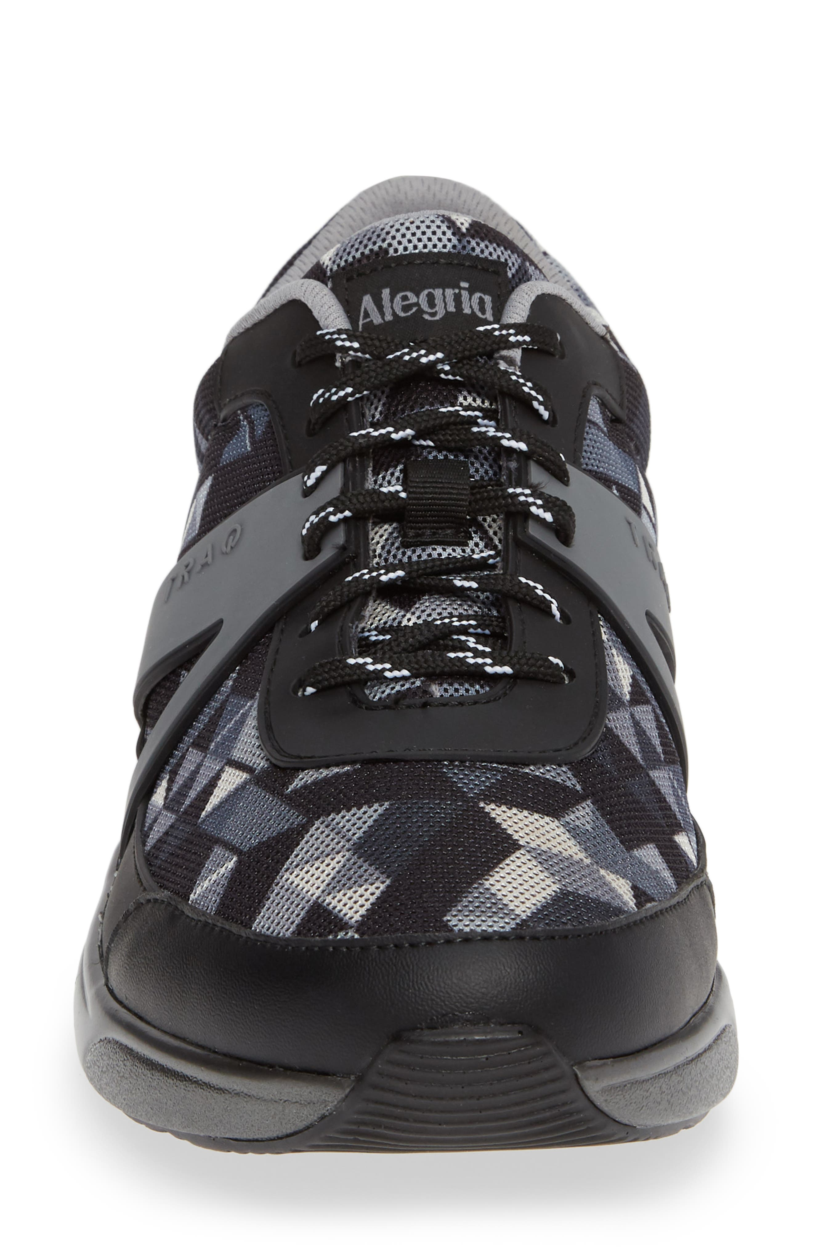 ALEGRIA, Qarma Sneaker, Alternate thumbnail 4, color, BLACK ANGLE LEATHER