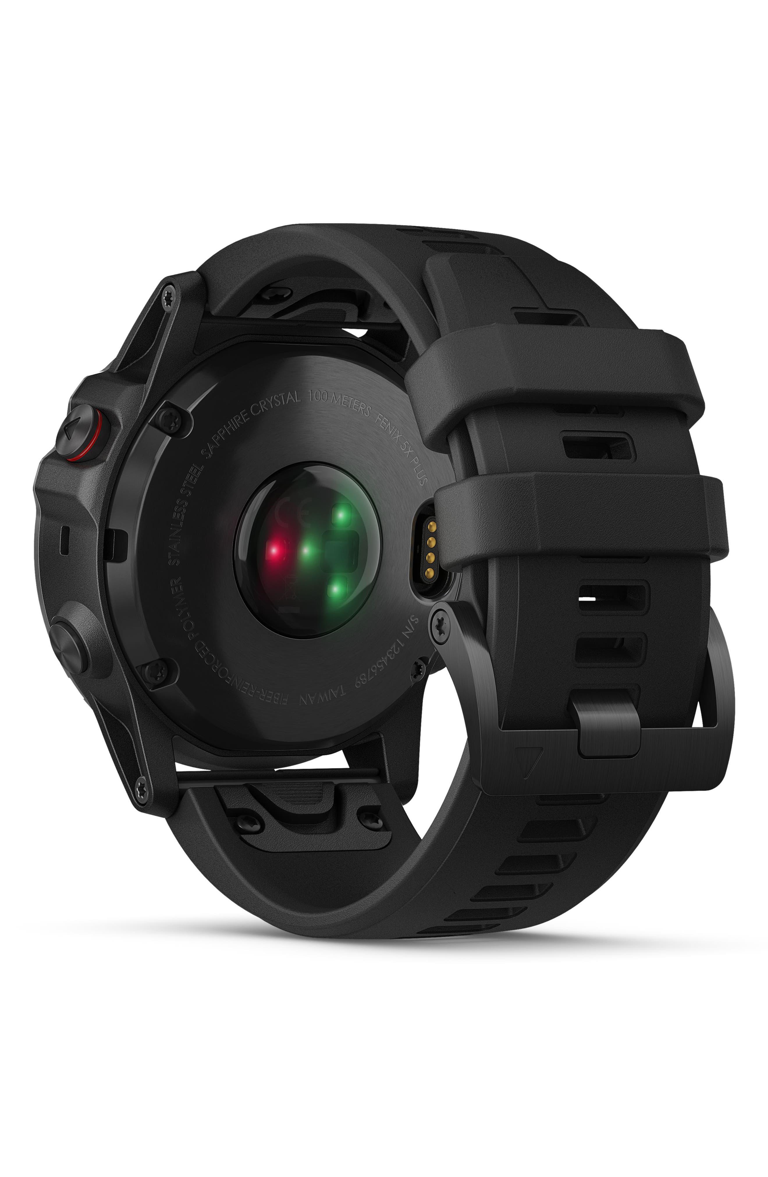 GARMIN, fenix<sup>®</sup> 5S Sapphire Premium Multisport GPS Watch, 51mm, Alternate thumbnail 2, color, BLACK