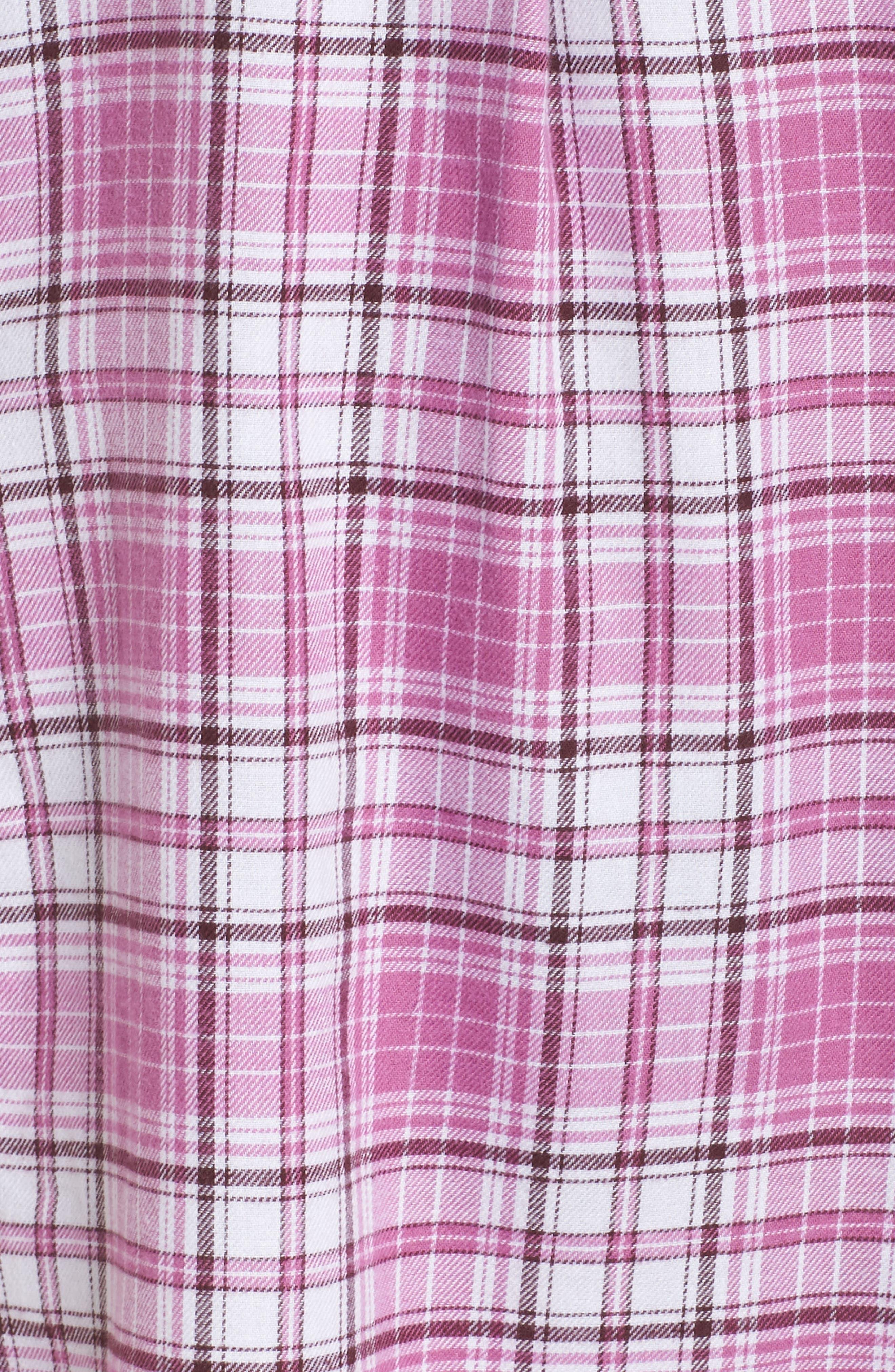 UGG<SUP>®</SUP>, Sleep Shirt & Socks Set, Alternate thumbnail 5, color, BODACIOUS PLAID
