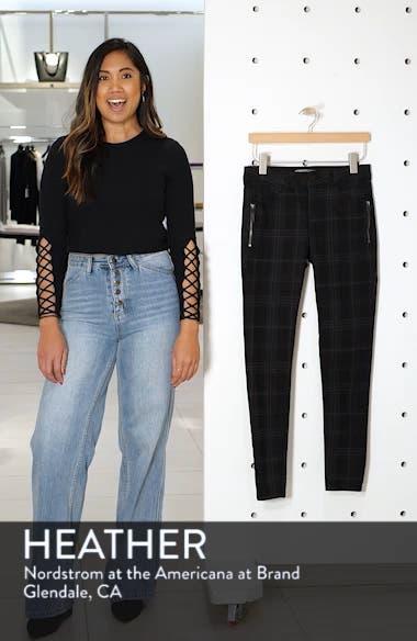 Ab-solution Side Zip Plaid Skinny Pants, sales video thumbnail