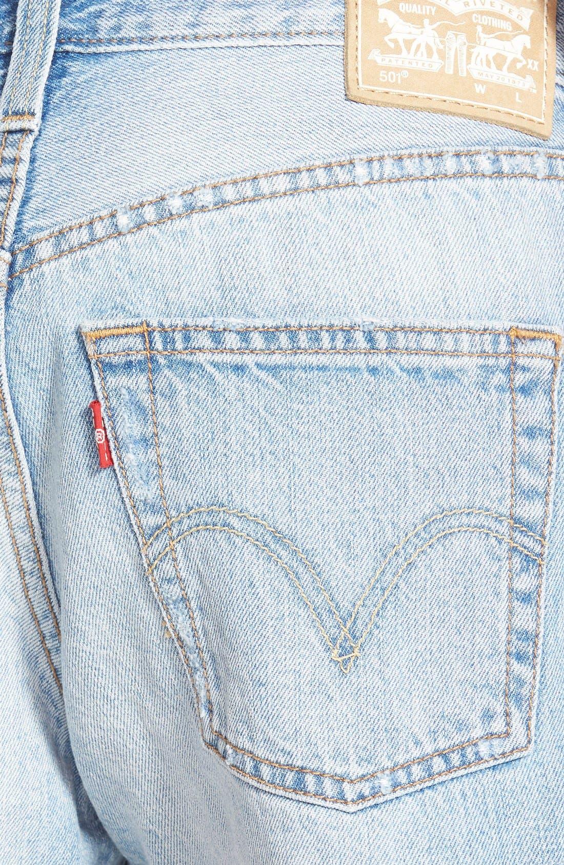 LEVI'S<SUP>®</SUP>, '501<sup>®</sup>' Cutoff Denim Shorts, Alternate thumbnail 2, color, 420
