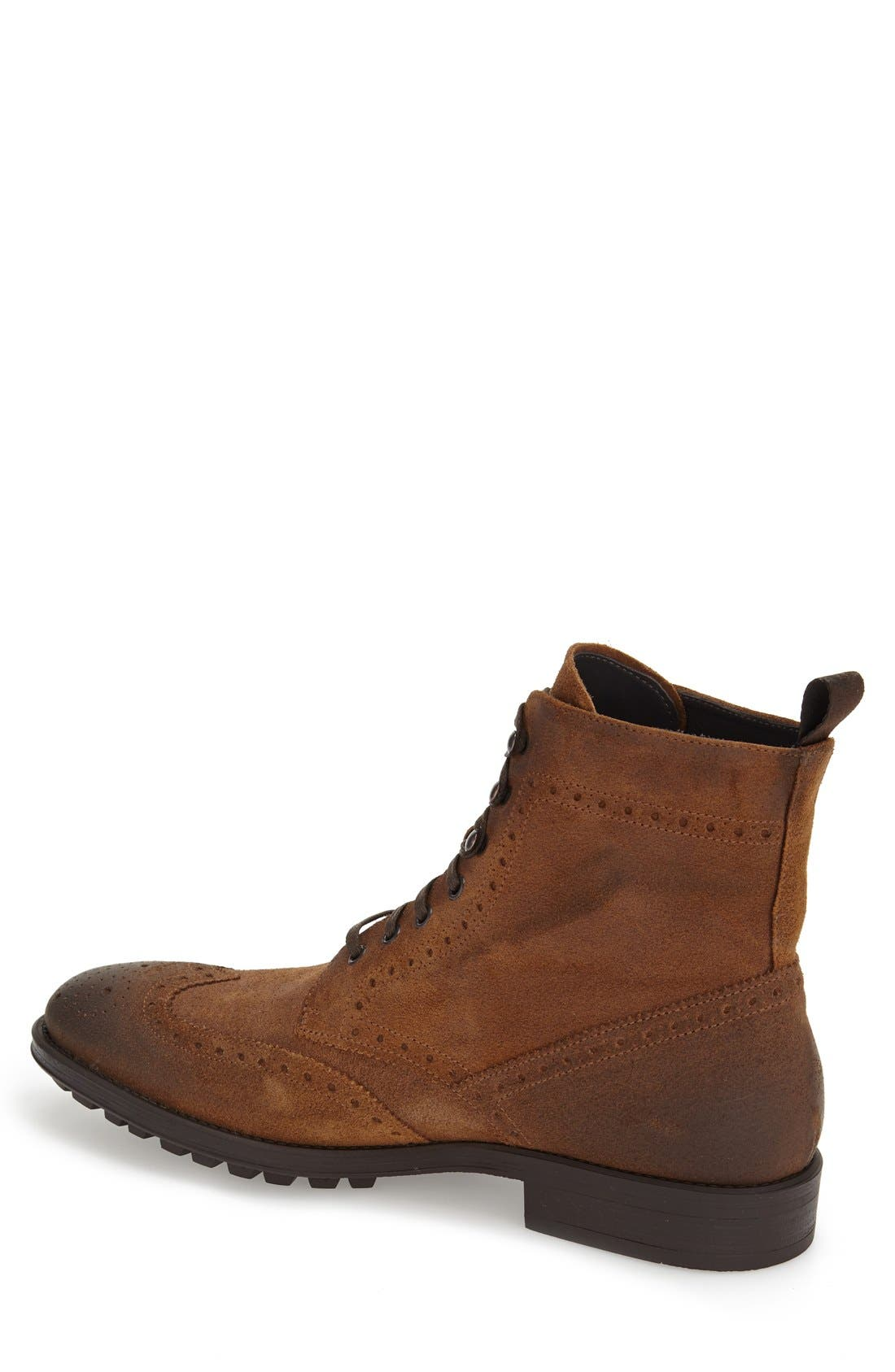 TO BOOT NEW YORK, 'Braeden Mid' Wingtip Boot, Alternate thumbnail 4, color, 231