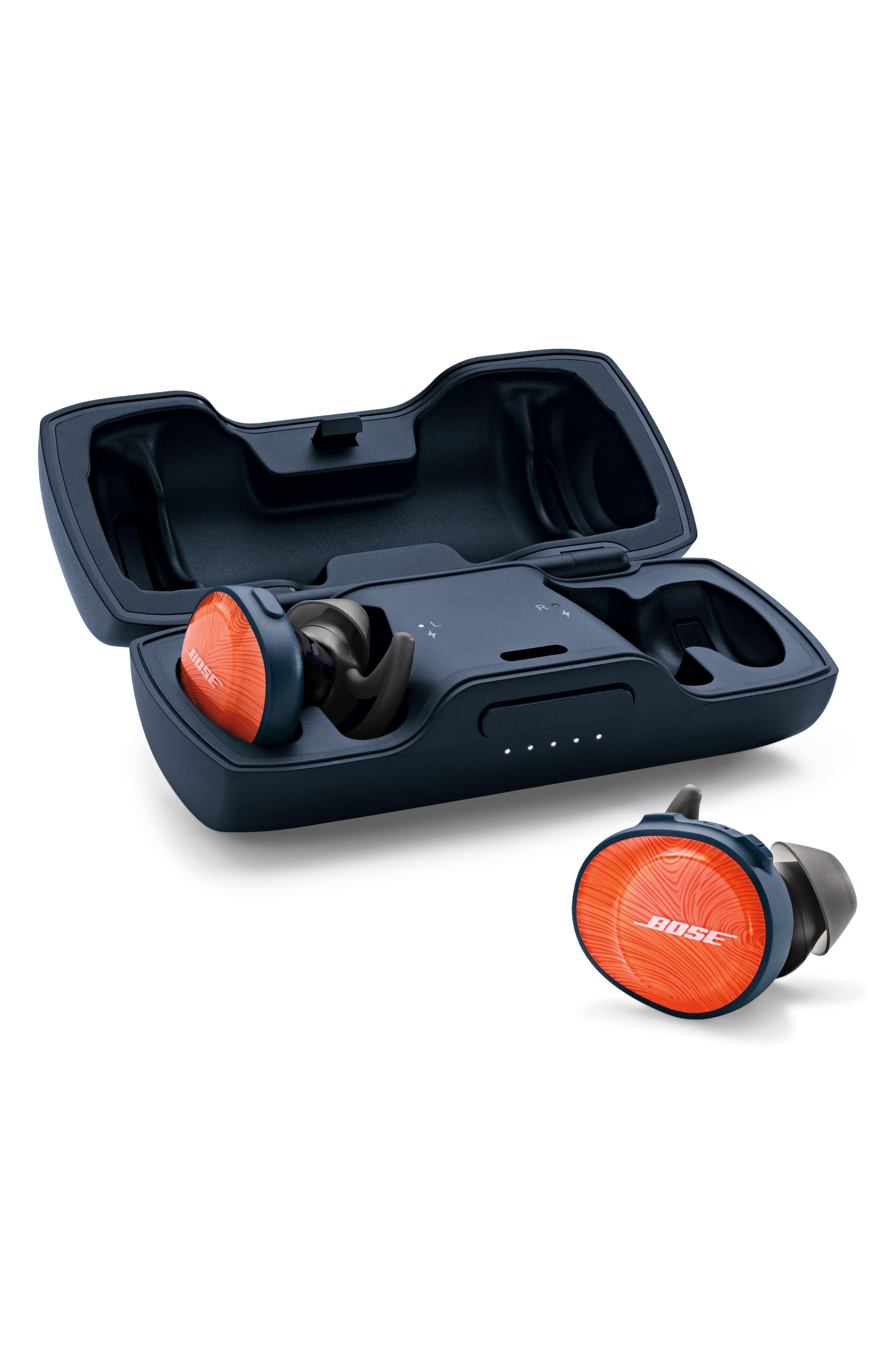 BOSE<SUP>®</SUP>, SoundSport<sup>®</sup> Free Wireless Headphones, Alternate thumbnail 5, color, ORANGE