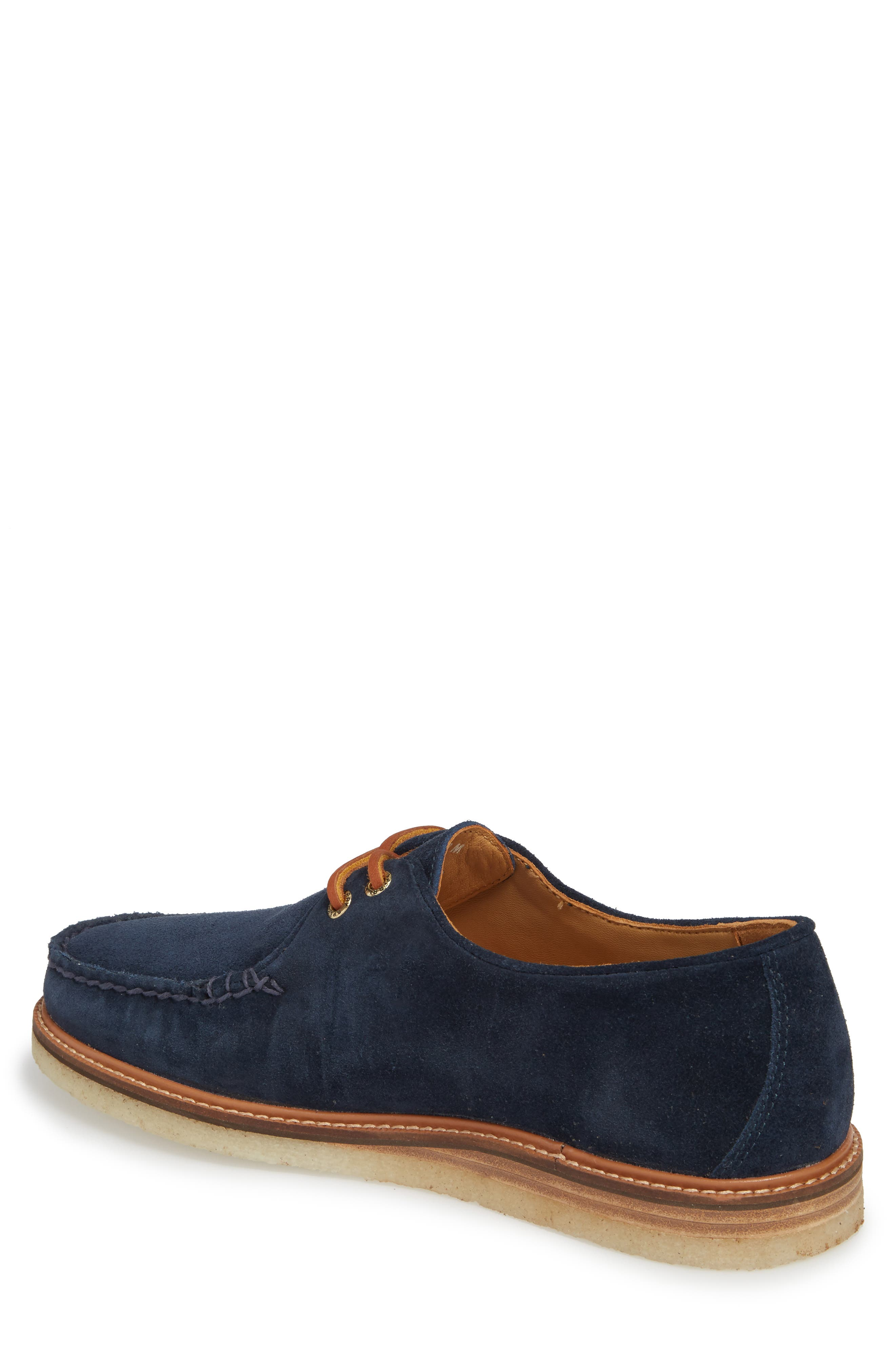 SPERRY, Gold Cup Captain's Crepe Sole Oxford, Alternate thumbnail 2, color, BLUE LEATHER/ SUEDE