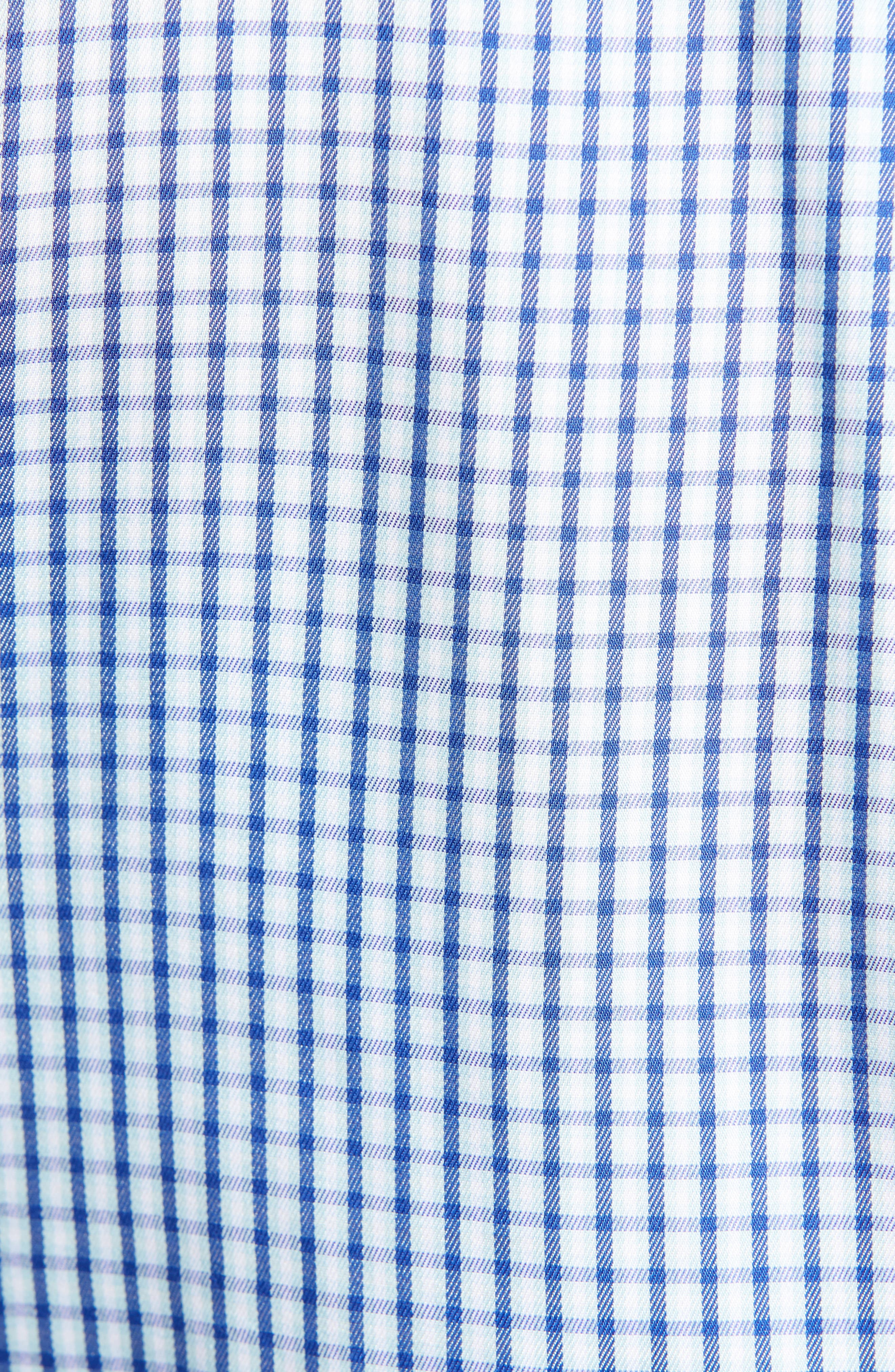 PETER MILLAR, Mount Maker Microcheck Sport Shirt, Alternate thumbnail 5, color, SAIL