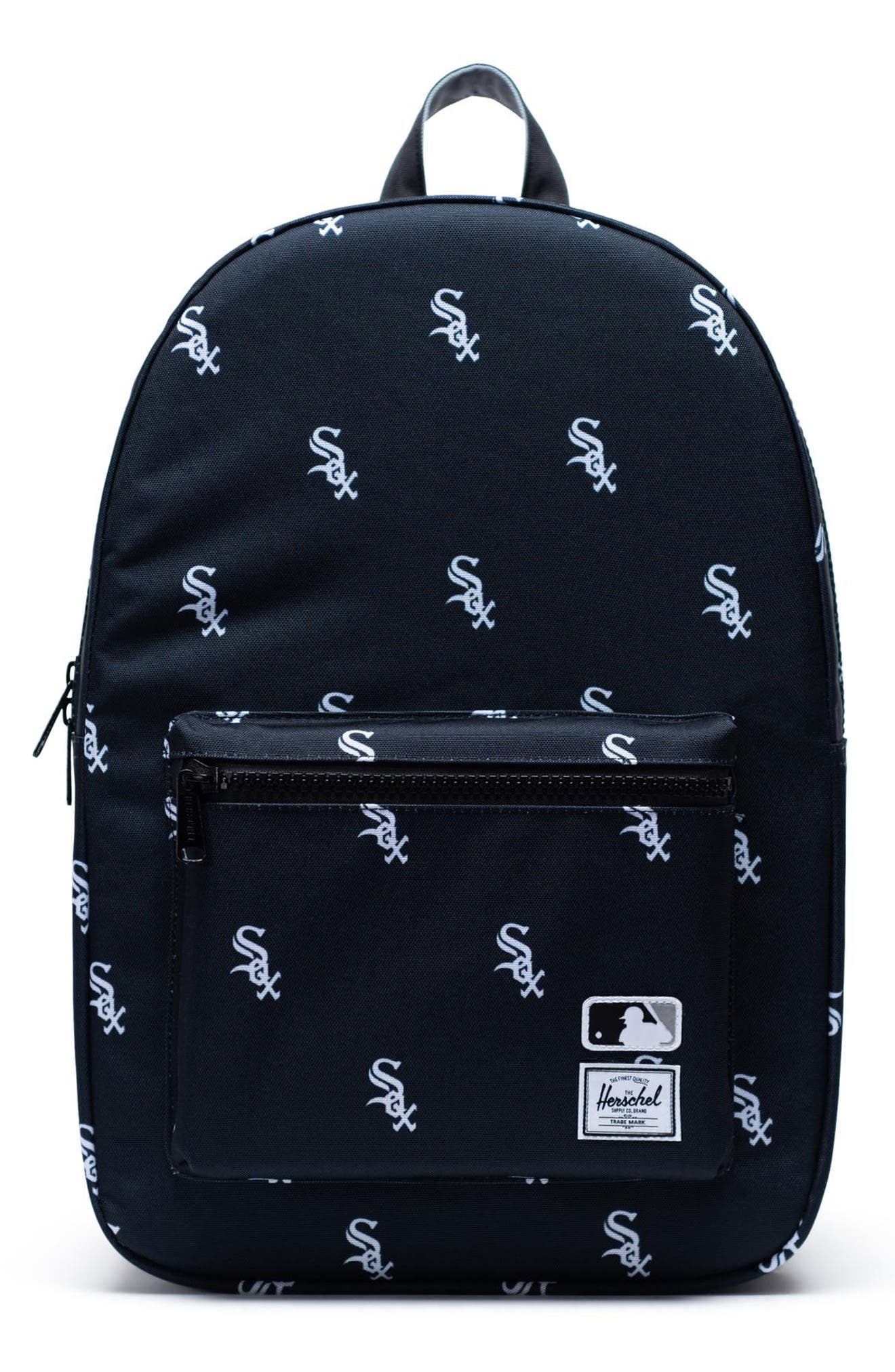 HERSCHEL SUPPLY CO., Settlement - MLB Outfield Backpack, Main thumbnail 1, color, CHICAGO WHITE SOX