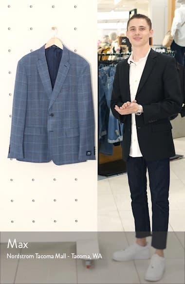Traditional Fit Windowpane Wool Sport Coat, sales video thumbnail