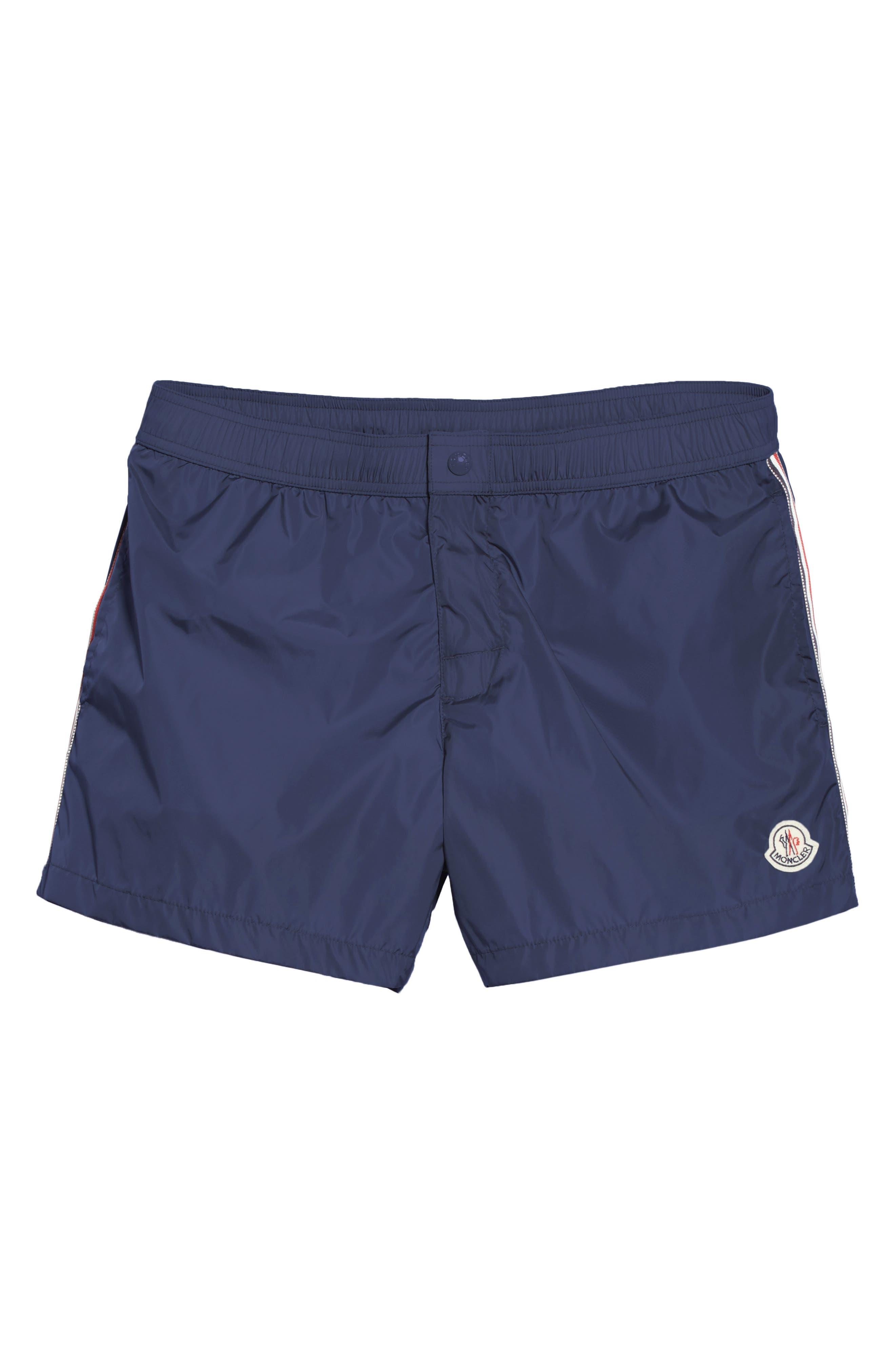 MONCLER, Boxer Mare Swim Shorts, Alternate thumbnail 6, color, BLUE