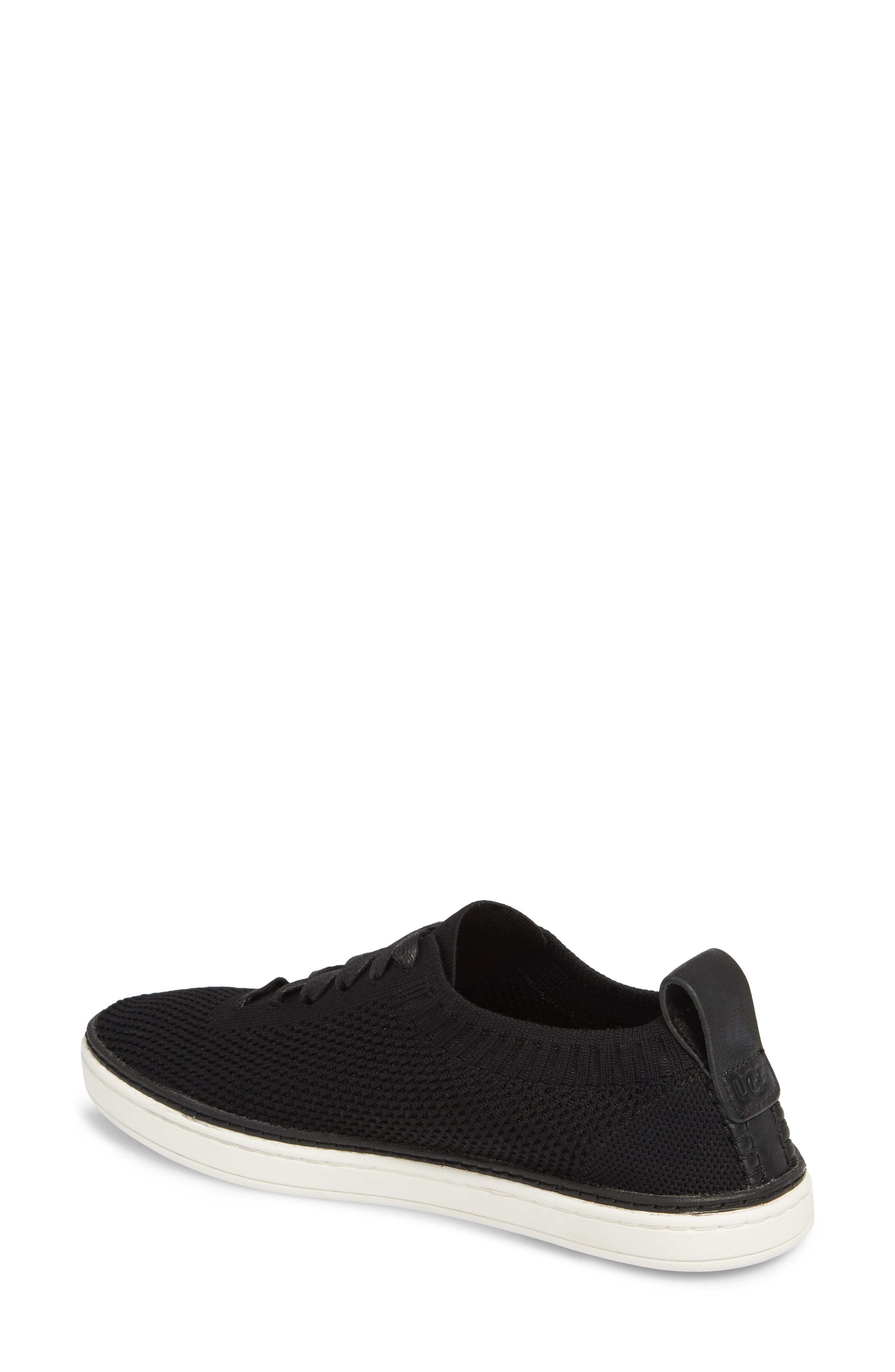 UGG<SUP>®</SUP>, Sidney Sneaker, Alternate thumbnail 2, color, BLACK FABRIC