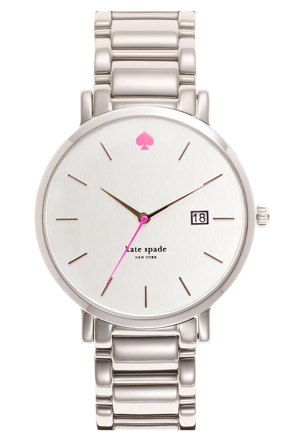 KATE SPADE NEW YORK, 'gramercy grand' bracelet watch, 38mm, Main thumbnail 1, color, 040