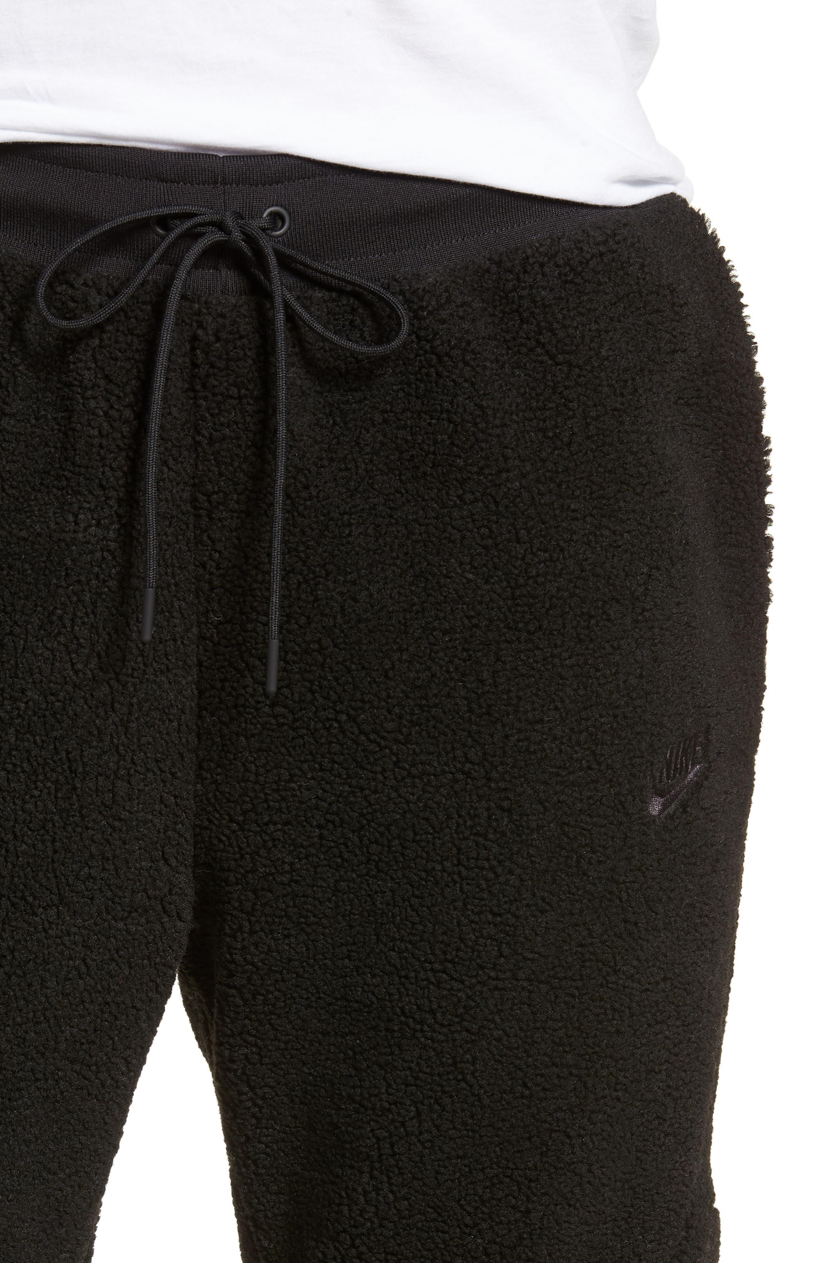 NIKE, Sportswear Tech Fleece Icon Jogger Pants, Alternate thumbnail 5, color, 010