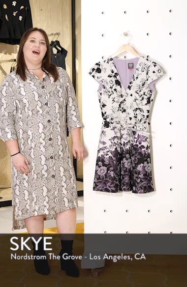 Floral Jacquard Fit and Flare Dress, sales video thumbnail